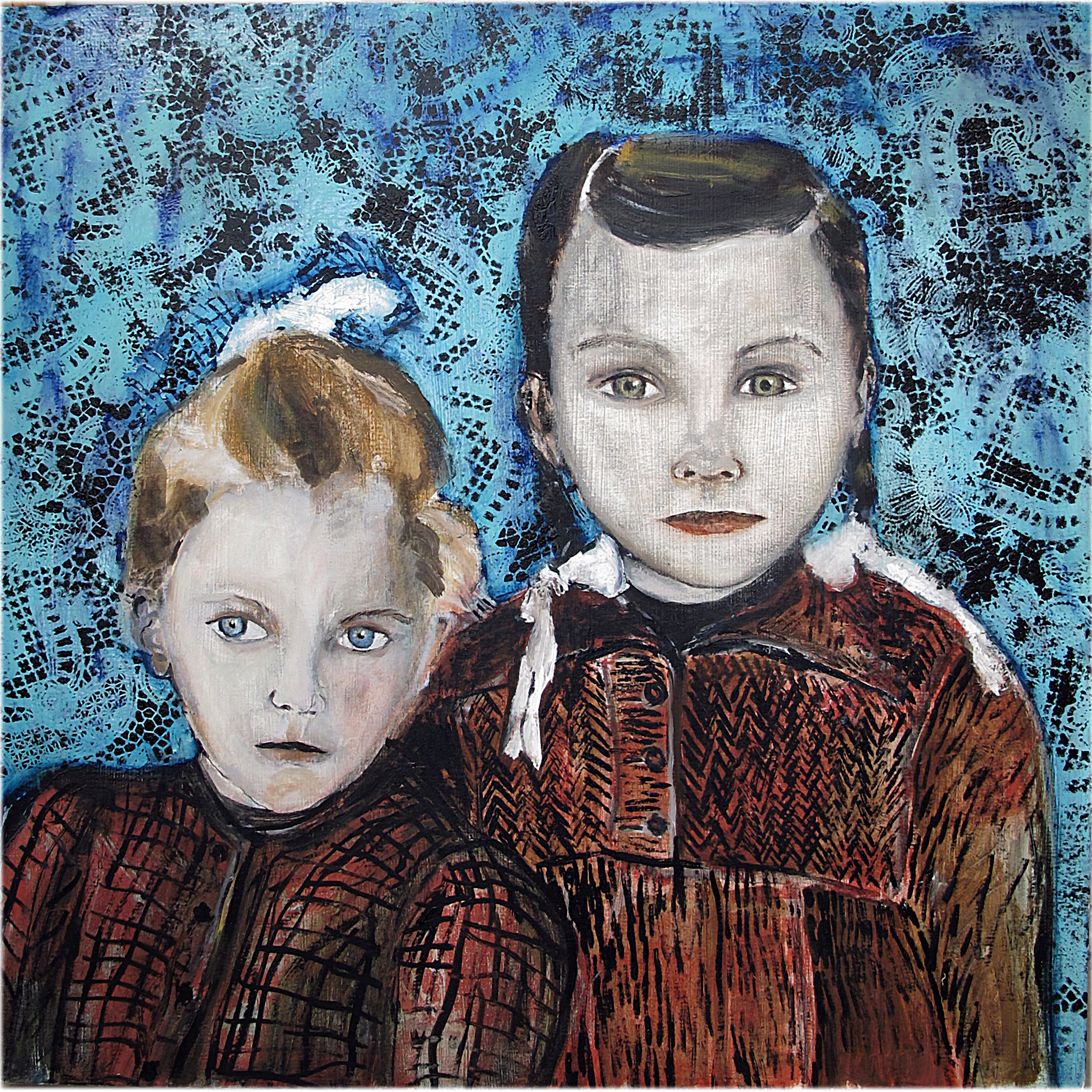 Sisters - Oil on canvas