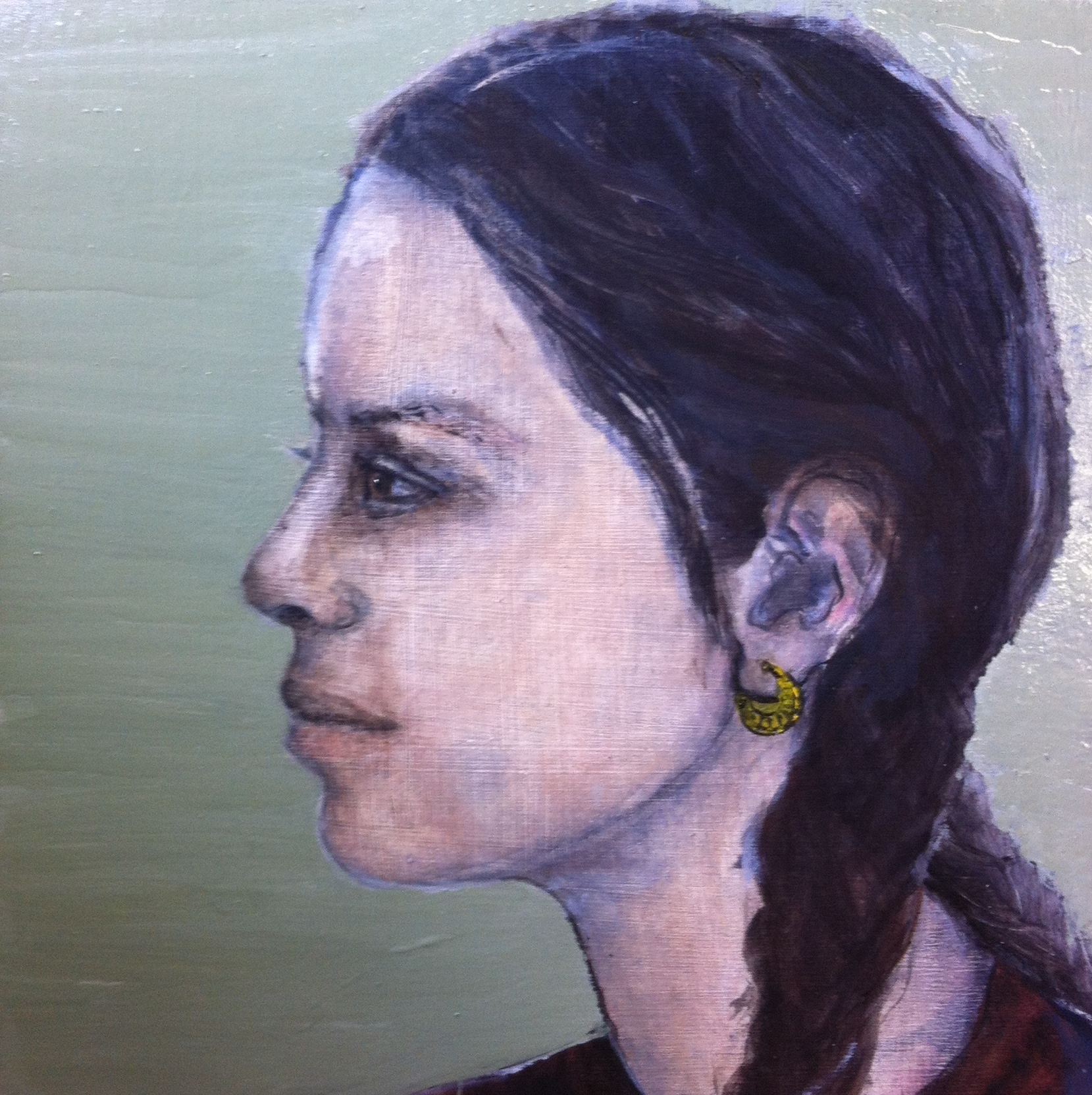 Mexican girl - Oil on board - Sold
