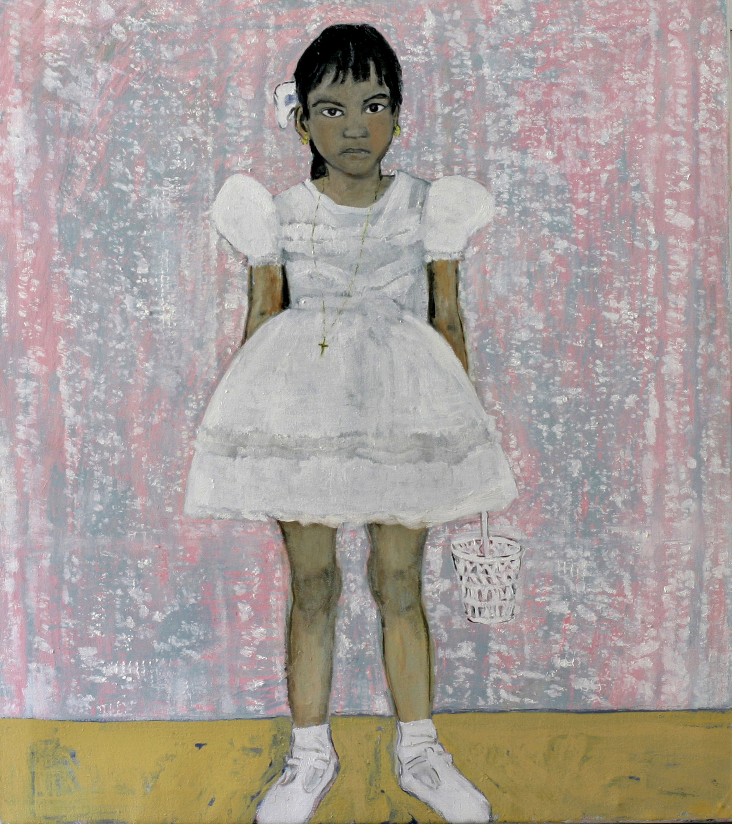 Girl in conformation dress - Oil on canvas - Sold