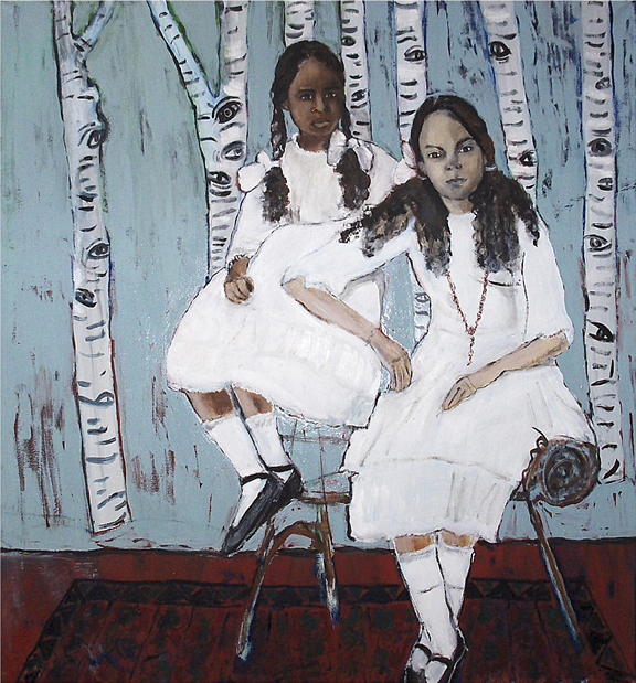 American sisters - Oil on canvas - Sold