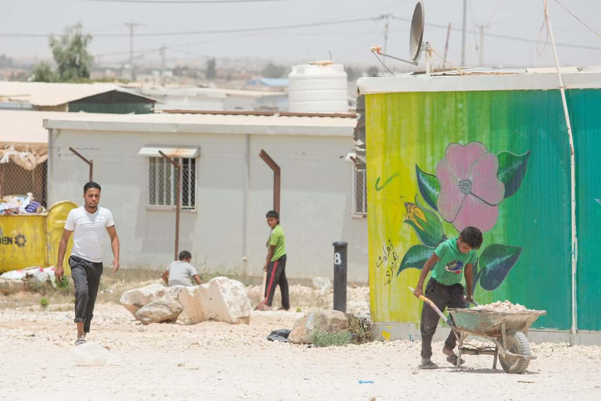 Za'atari camp opened on 28 July 2012. It is now home to 80,000 Syrian refugees. Photograph: Jordi Matas/Save the Children