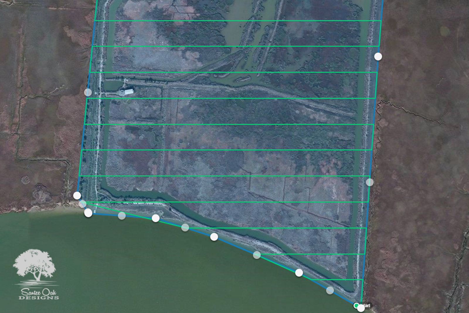 Planning the survey - We create a survey path for the drone. Once the conditions are right we will fly the survey and depending on the size of your property capture hundreds or even thousands of pictures from above.