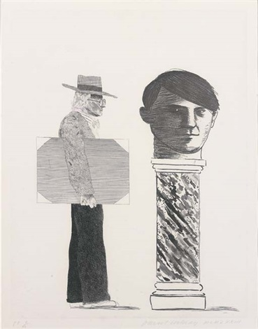 David Hockney - The Student / Homage to Picasso