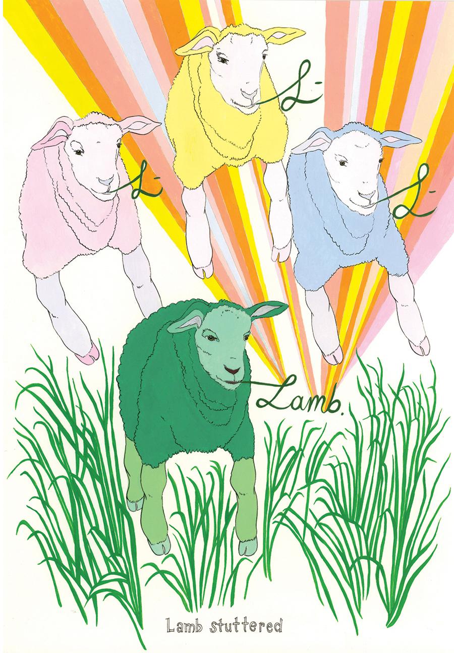 """""""Lamb stuttered"""""""