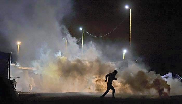 Teargas into a peaceful New Years Eve in camp