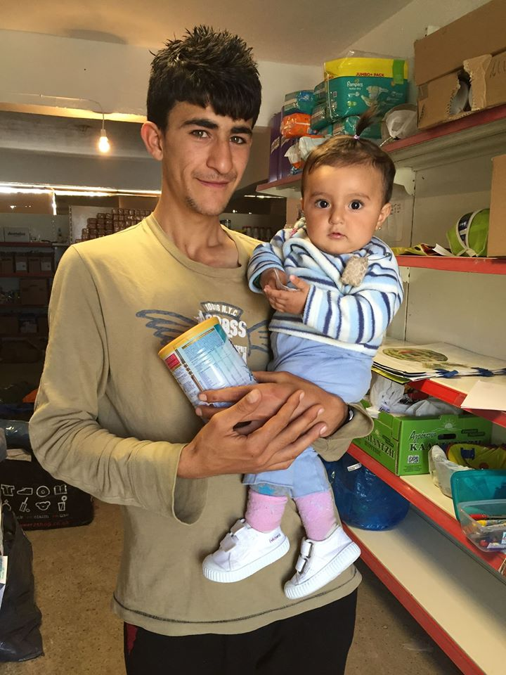 a beautiful little baby who came to see me everyday in the 'free' shop with her daddy and the milk powder we provide.