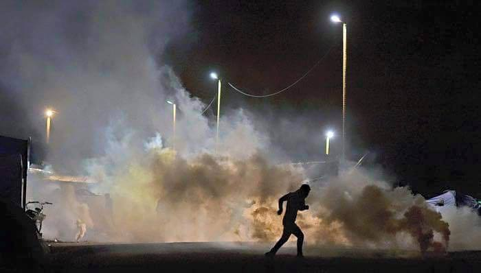 tear gas into a calm Jungle on New Years Eve