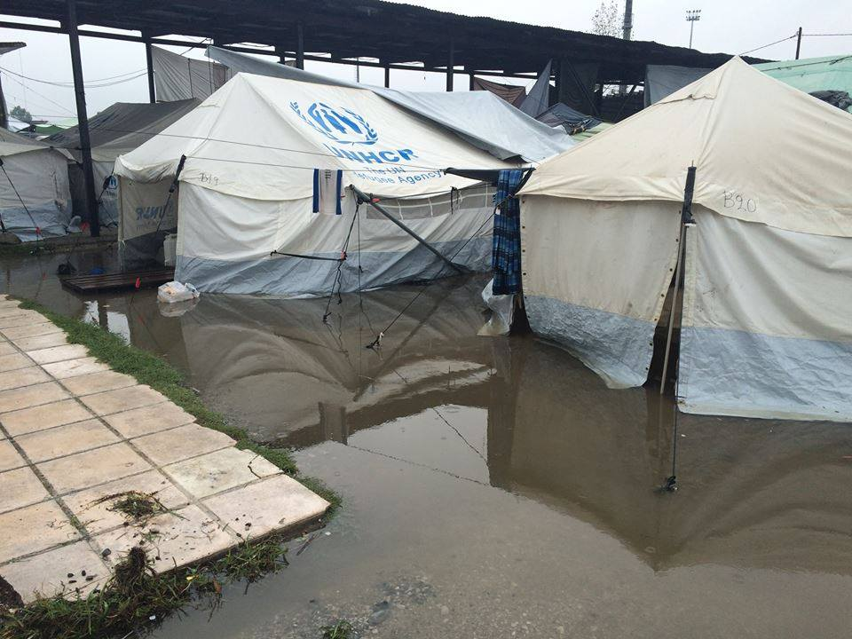 Wed 7th Sept 2016 serious flooding on Camp Alexandreia