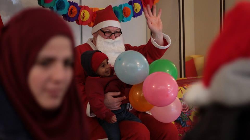 Santa came to visit the kids on Christmas!