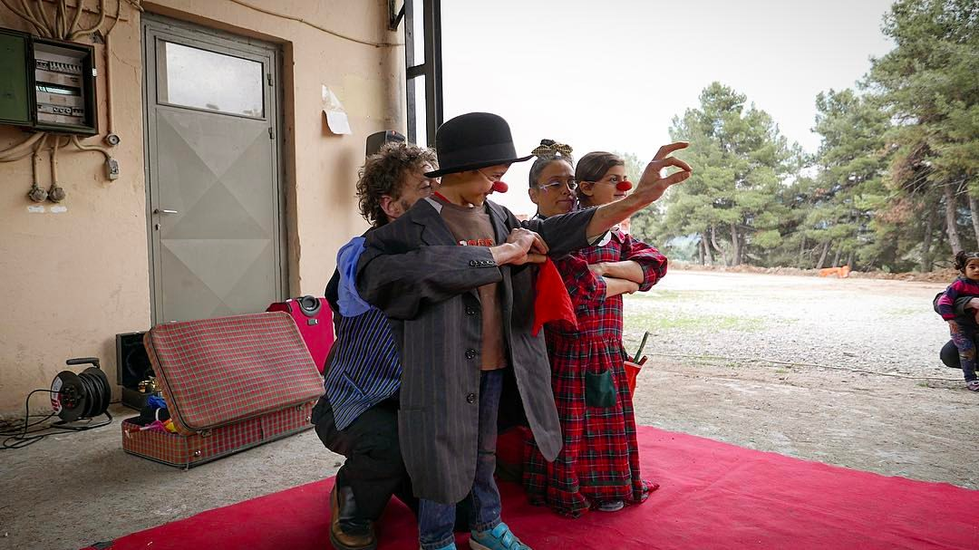 One team of clowns on camp - we've been visited 5 separate times now, the kids love them!