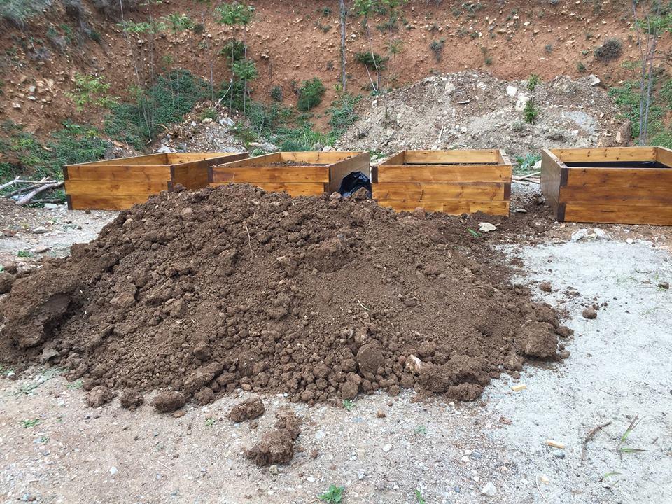 Soil then arrived...