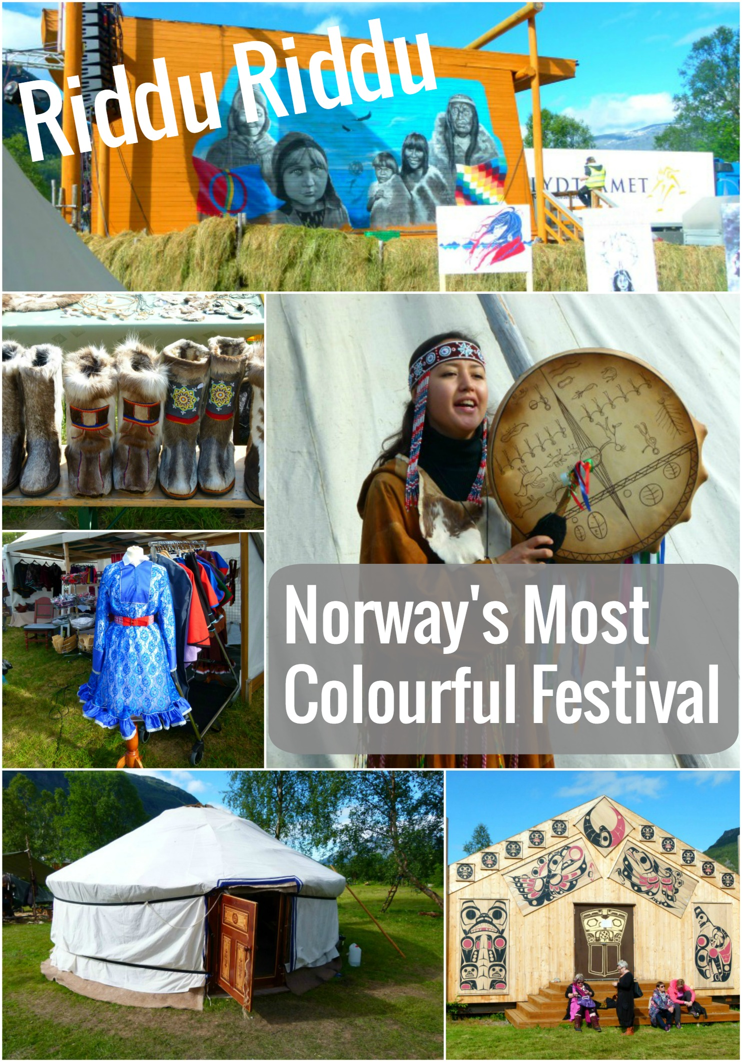 Riddu Riddu is probably Norway's most colourful festival! It takes place in a little town in the mountains of Northern Norway and you should definitely head there one summer!