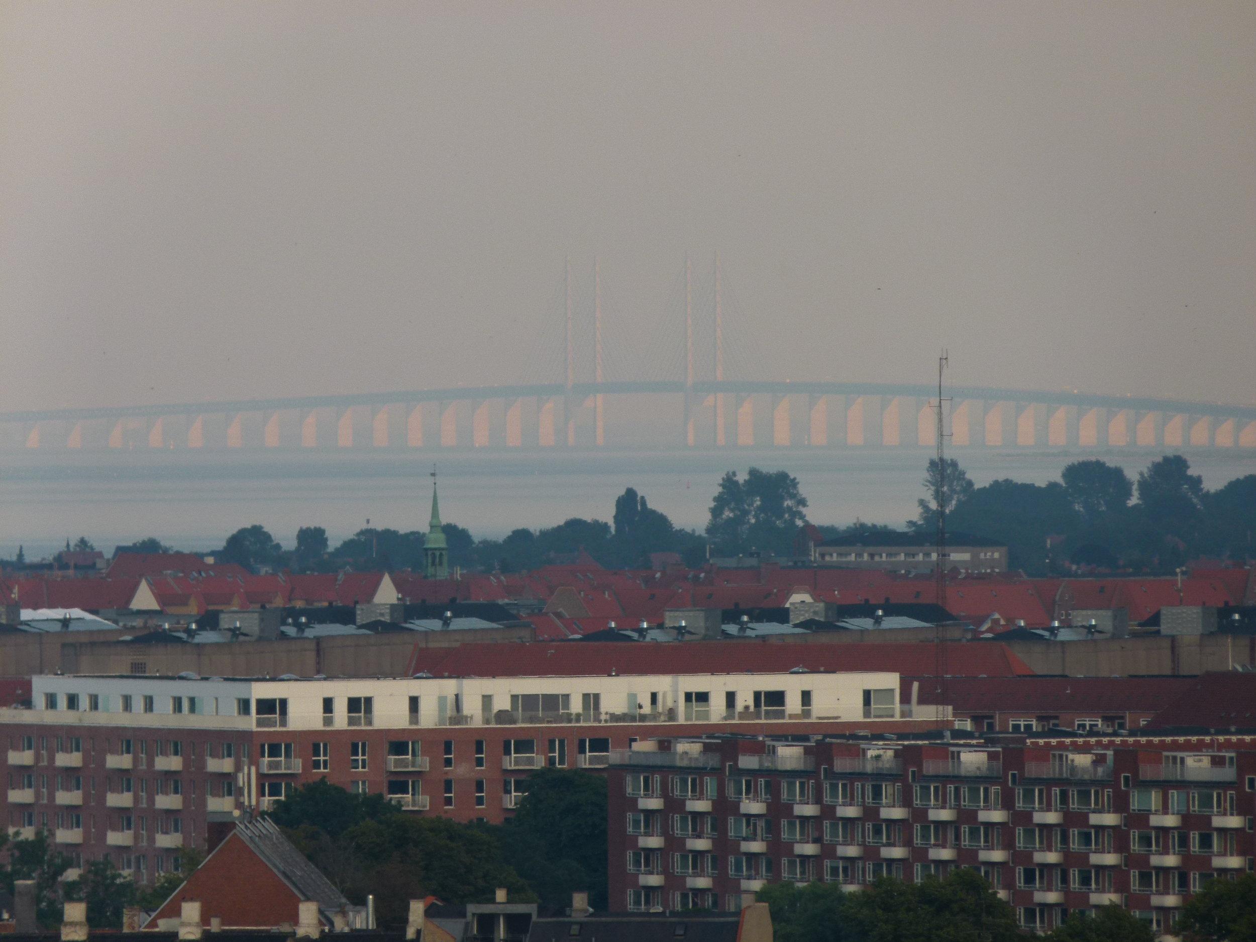 Öresundsbridge connecting Denmark and Sweden