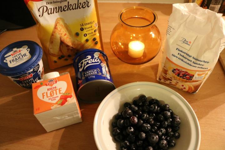 blueberry pancake cake