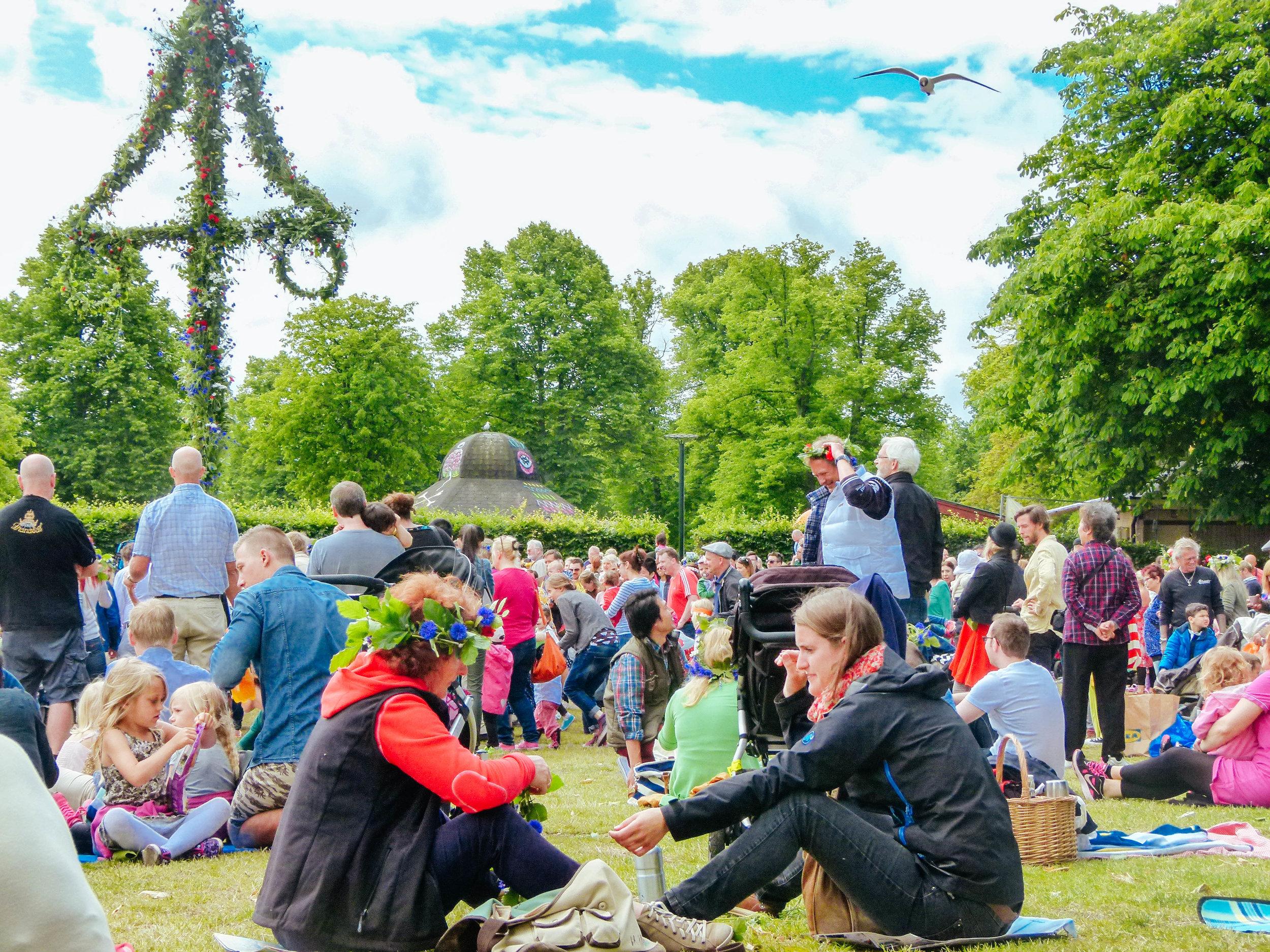 visit möllevången folkets park malmo midsummer sweden photo