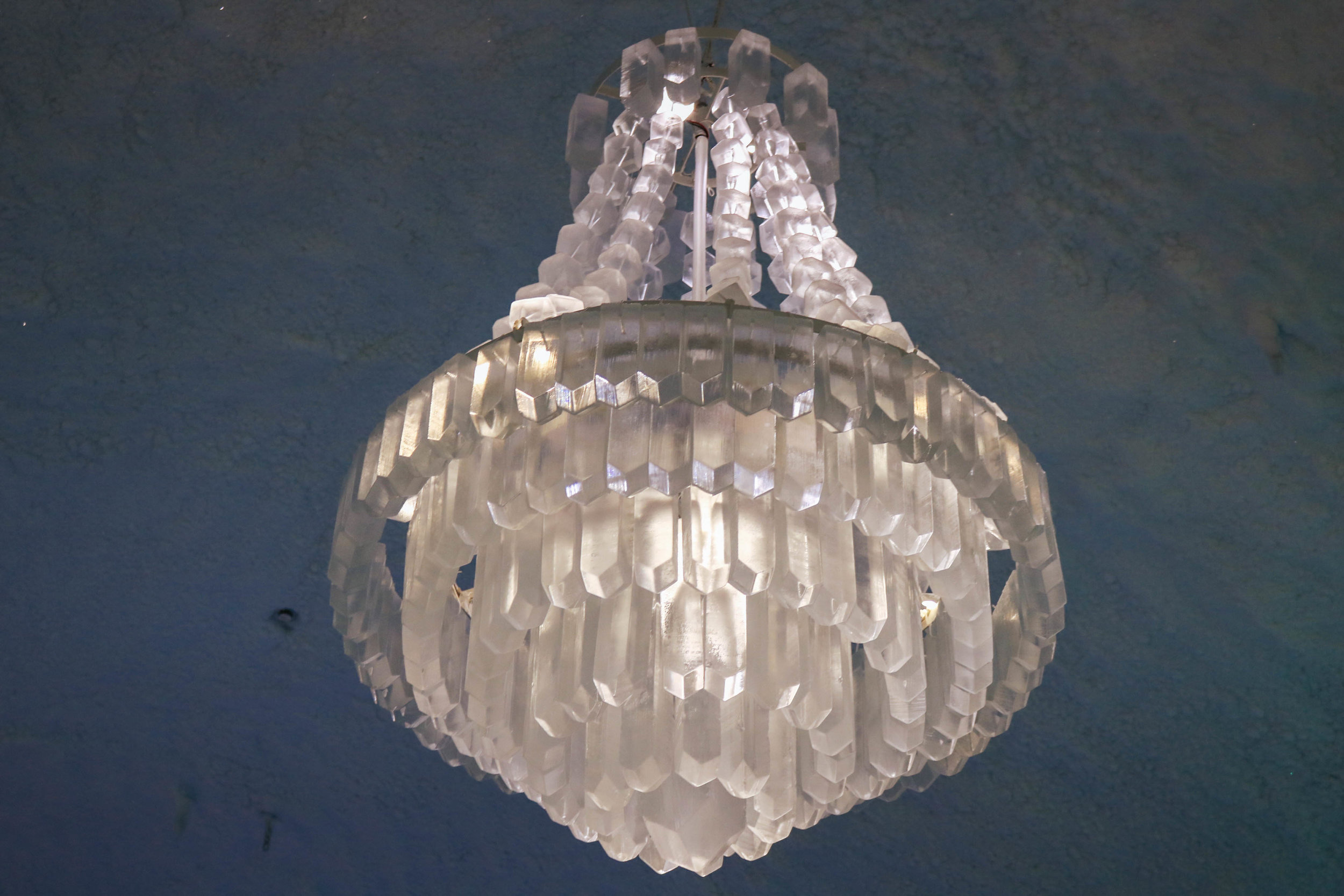 ... and the ice chandelier, which is the highlight of the interior of the hotel!