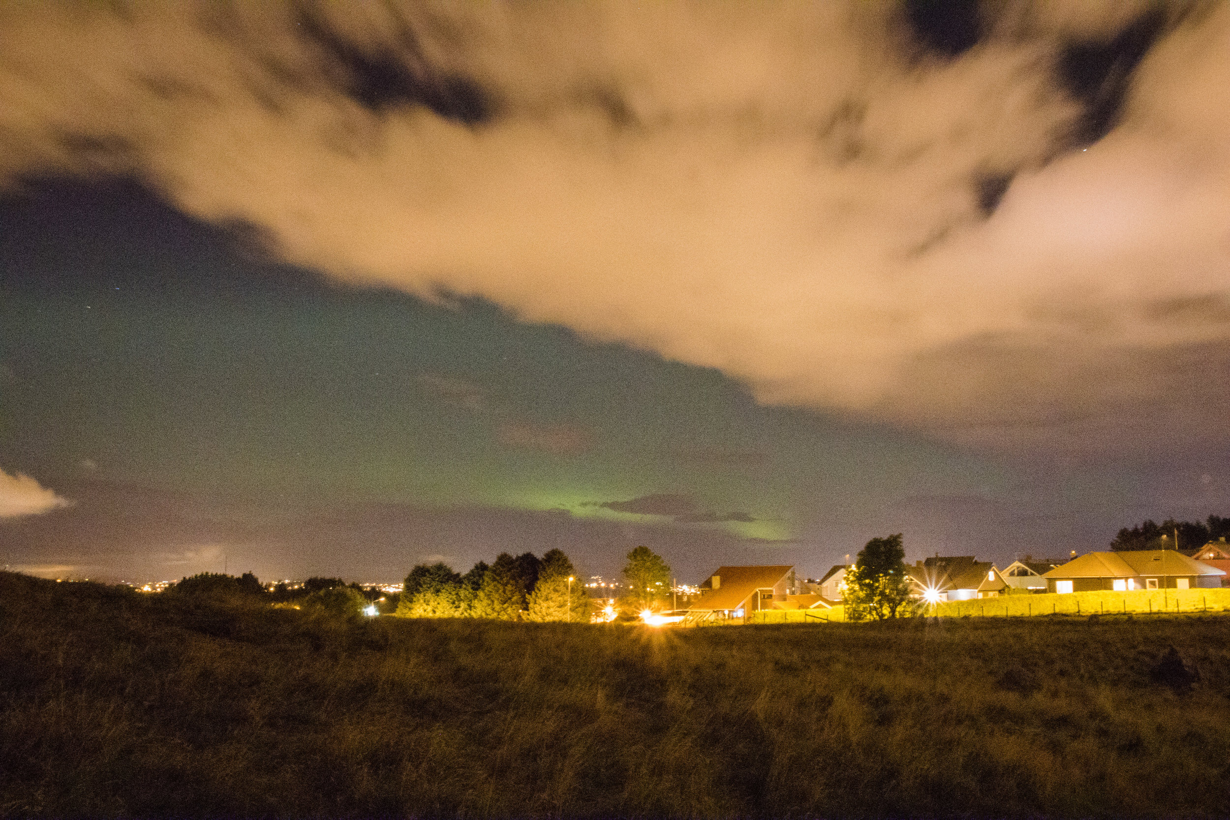 autumn northern lights stavanger west norway