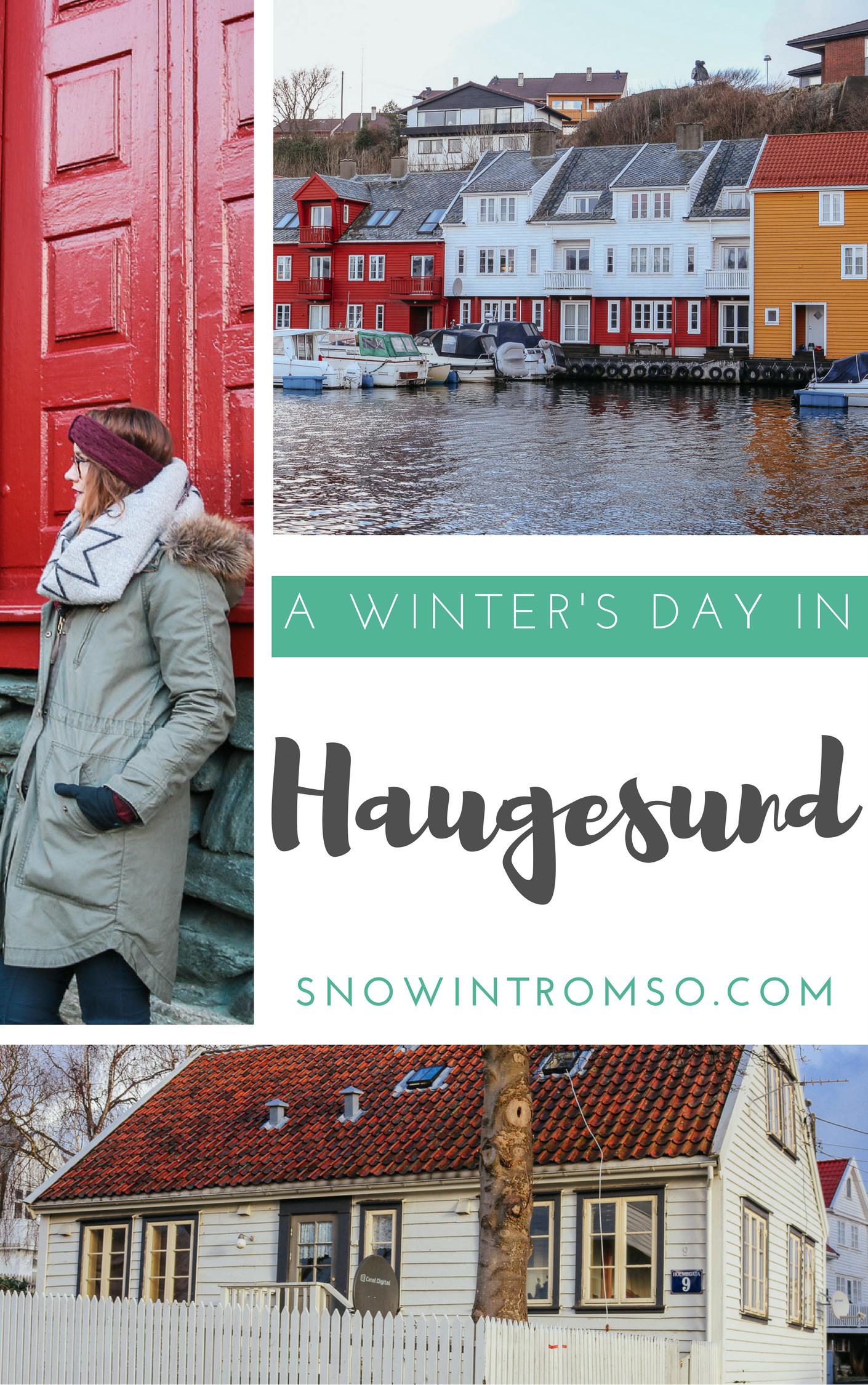 A winter's day in Haugesund on the west coast of Norway