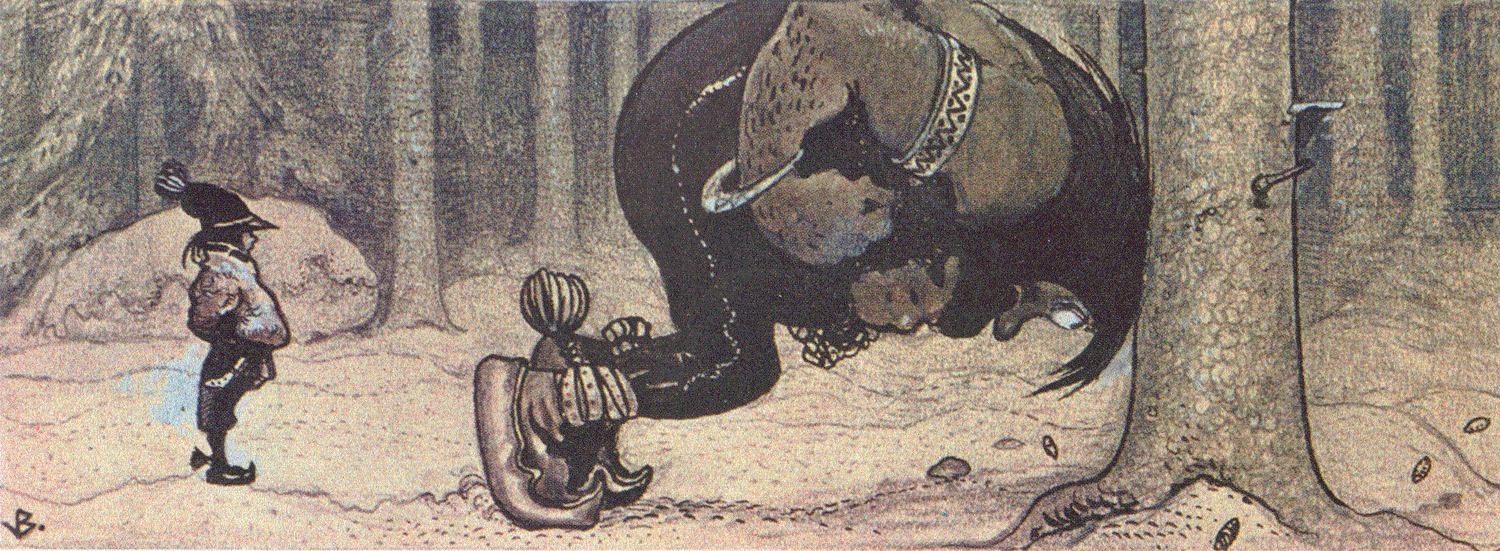 Old depiction of Stallo
