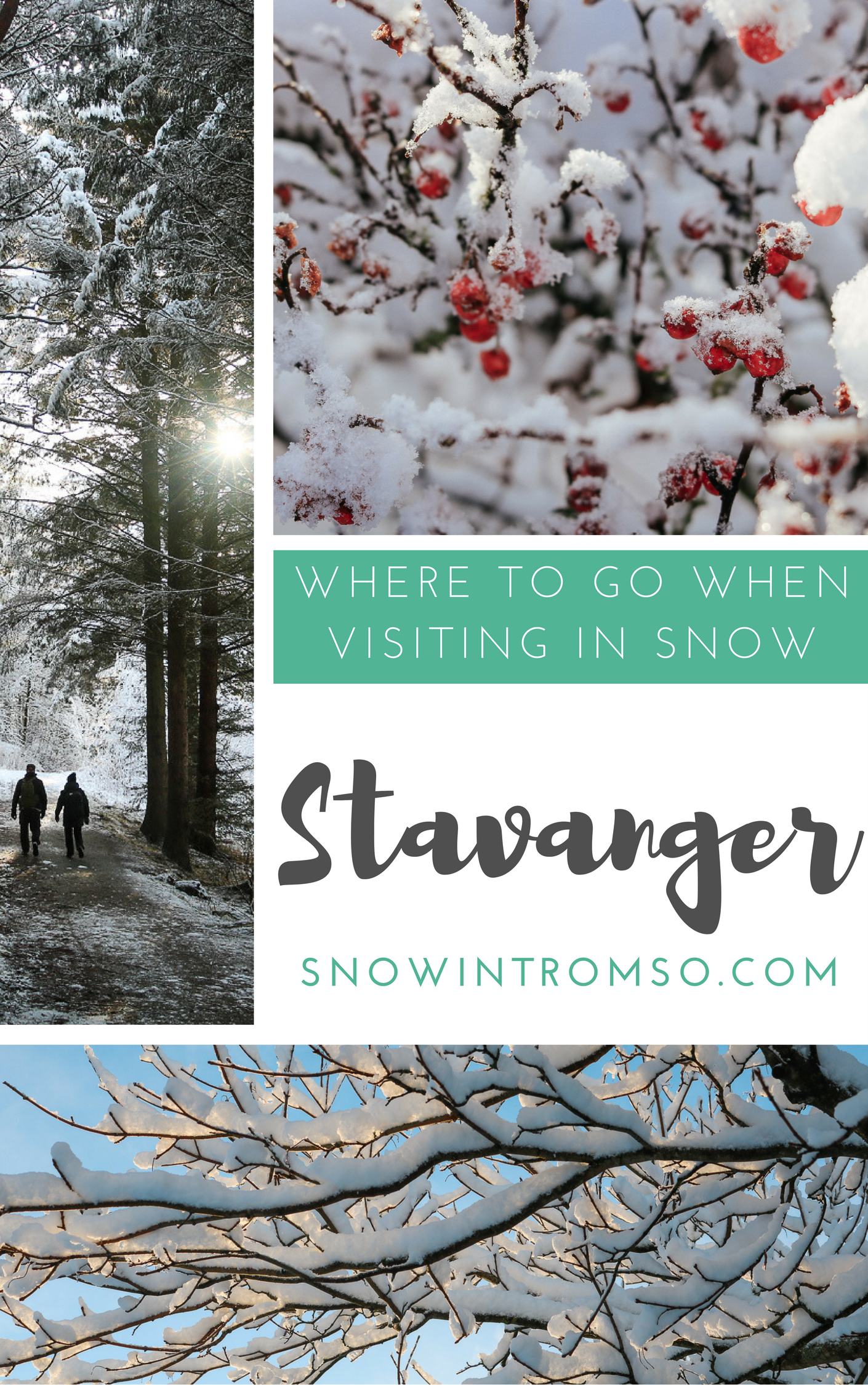 It doesn't ALWAYS rain in Stavanger! Sometimes it actually snows - and this is what it looks like and where you get to enjoy it most!