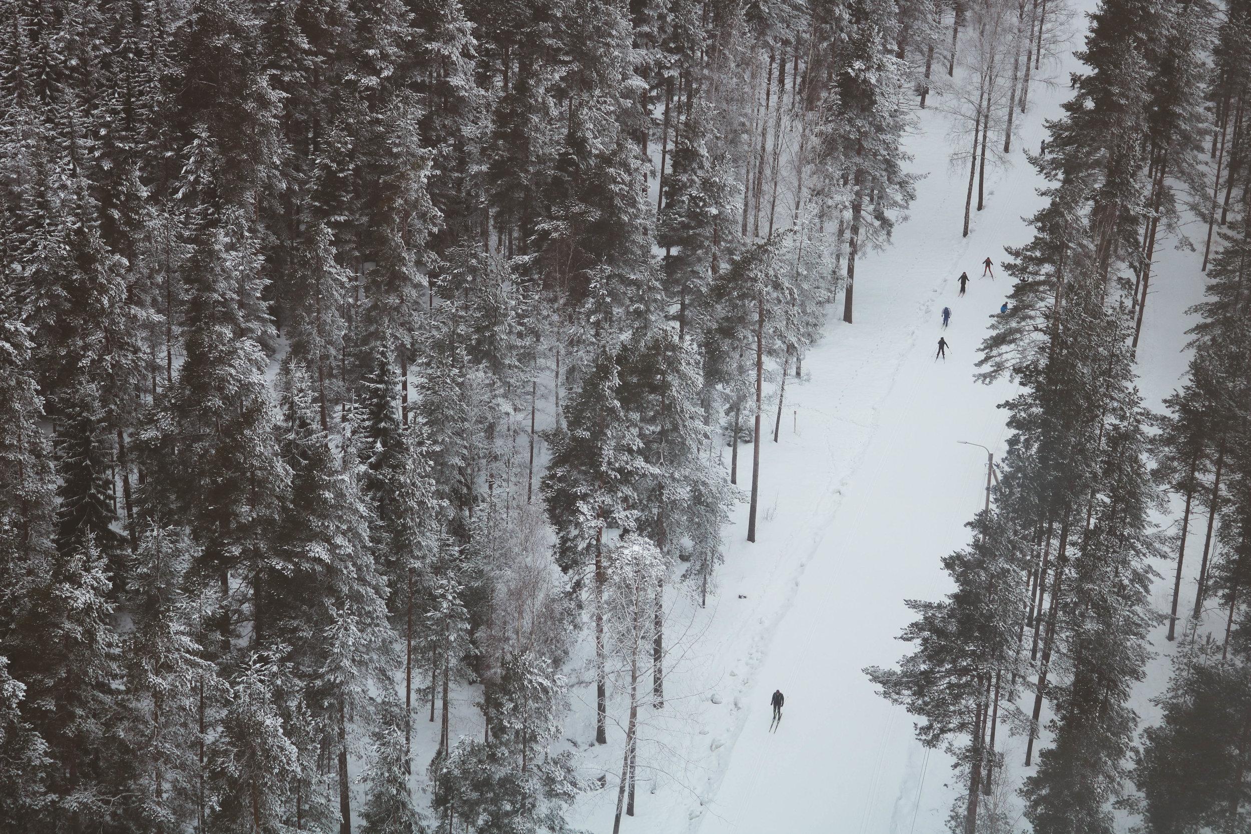 cross country skiing lahti finland