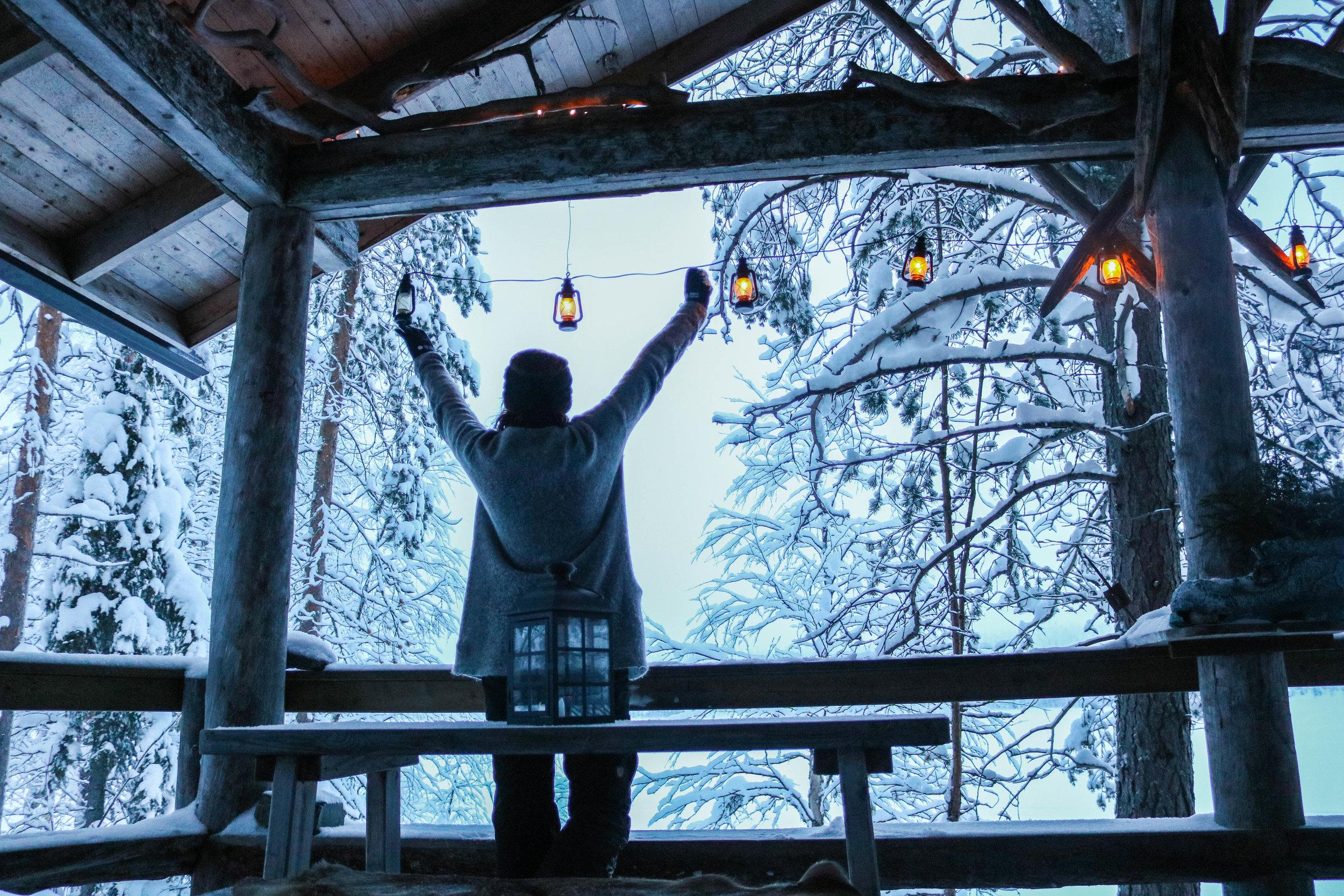 cabin holiday finnish lapland