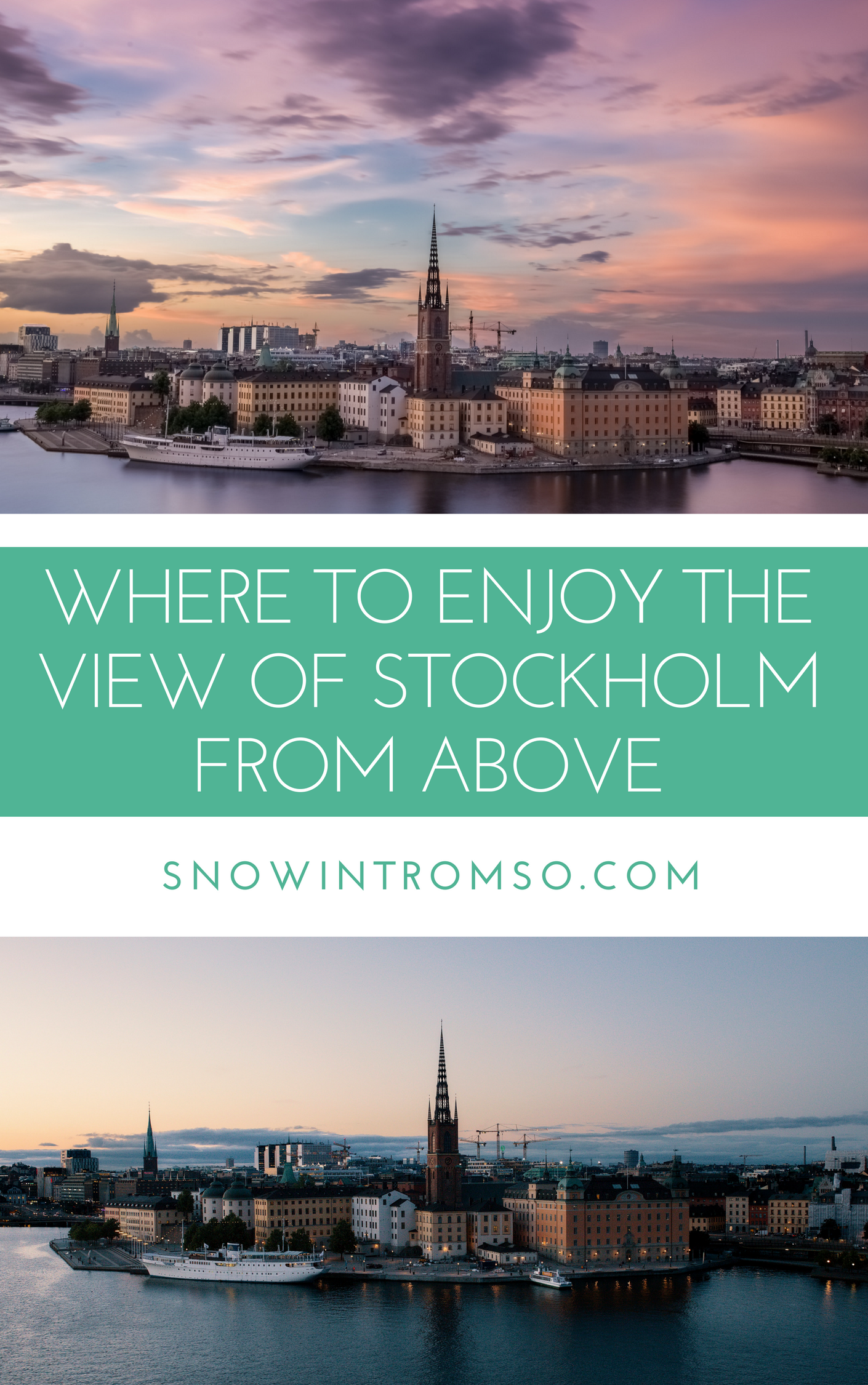Click through to find out where you can enjoy the view of Stockholm from above!