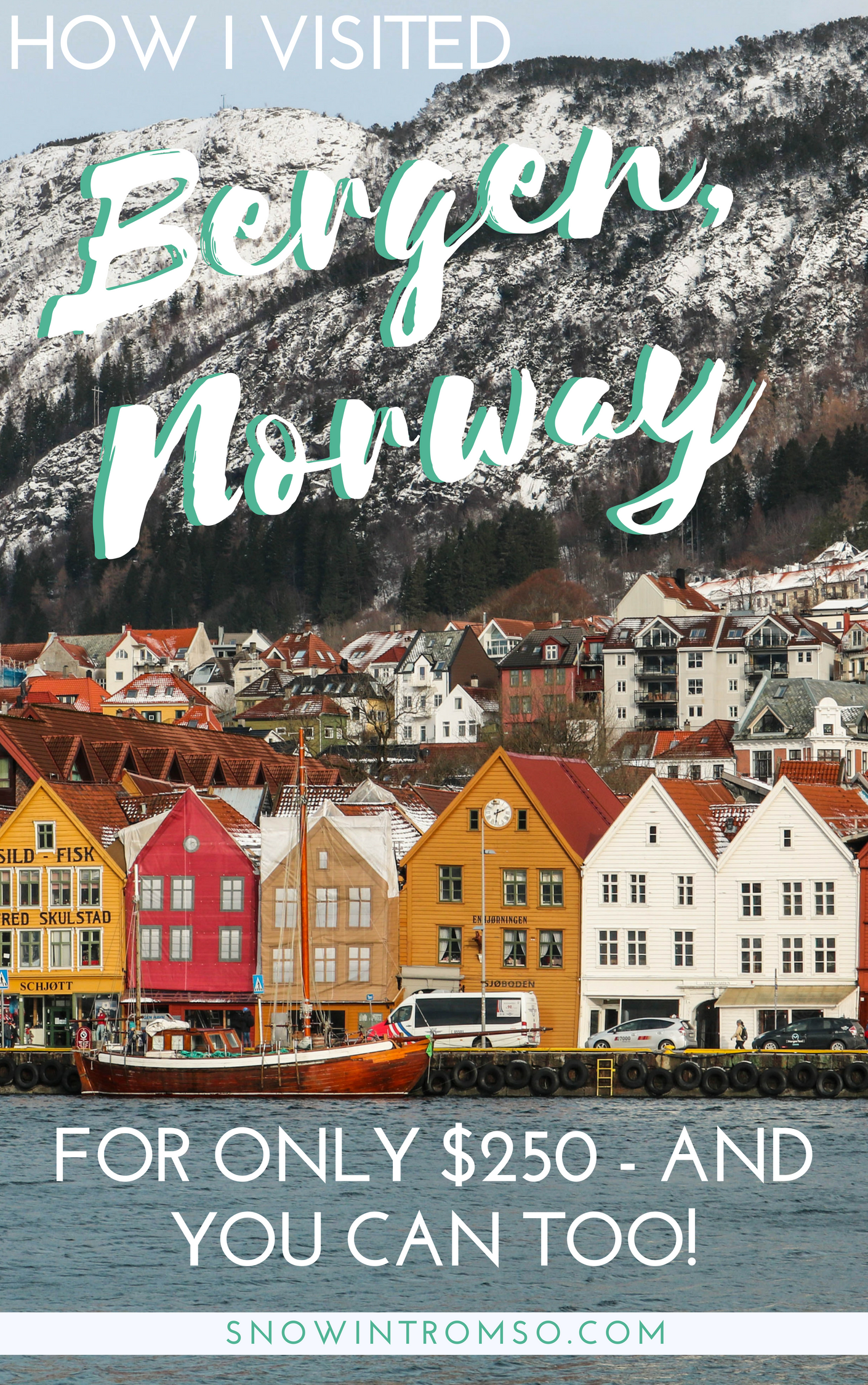 Click through to find out how I visited Bergen for only $250 - and how you can do the same!
