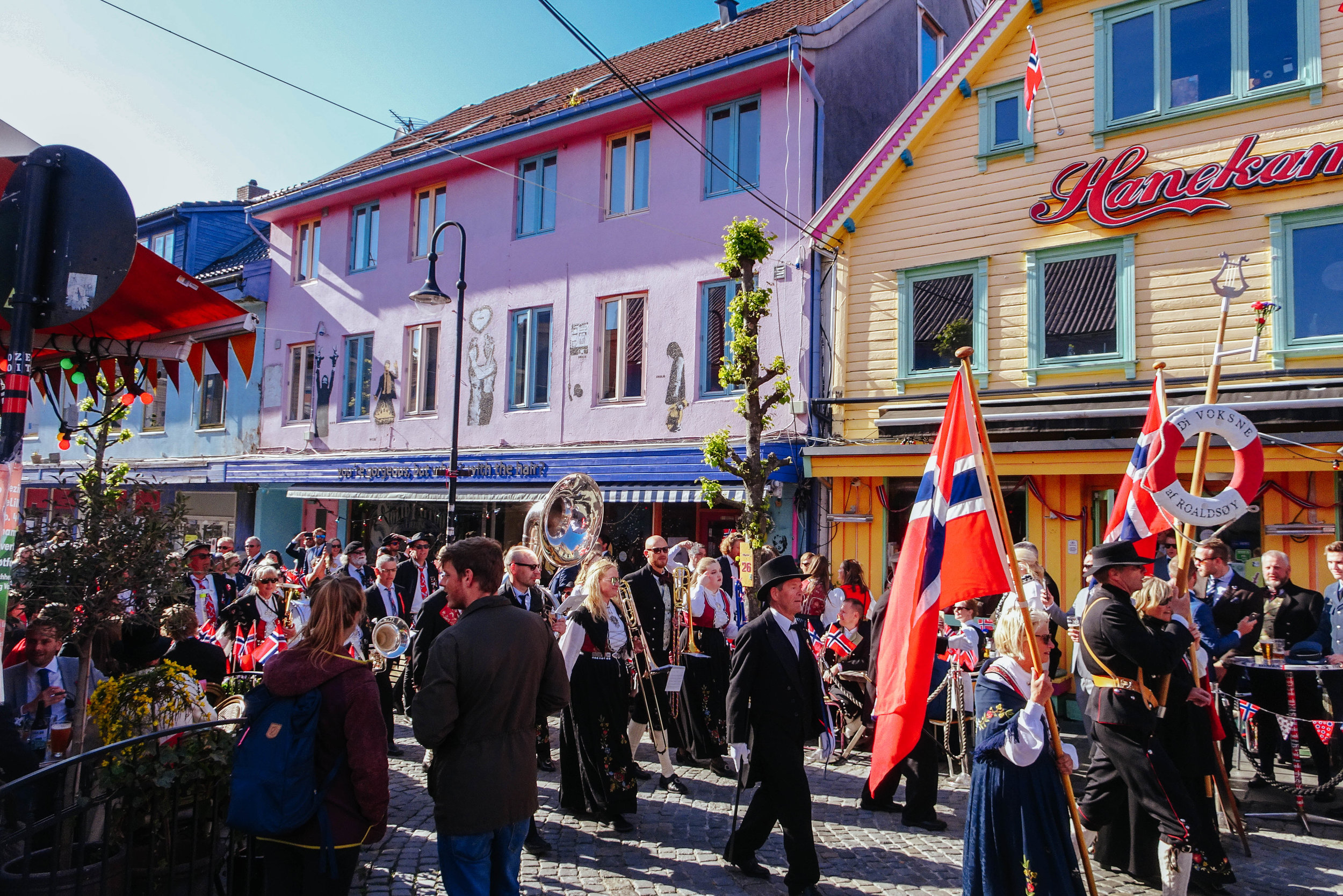 "The ""colour street"" of Stavanger (Fargegaten) is even more colourful on May 17th :)"