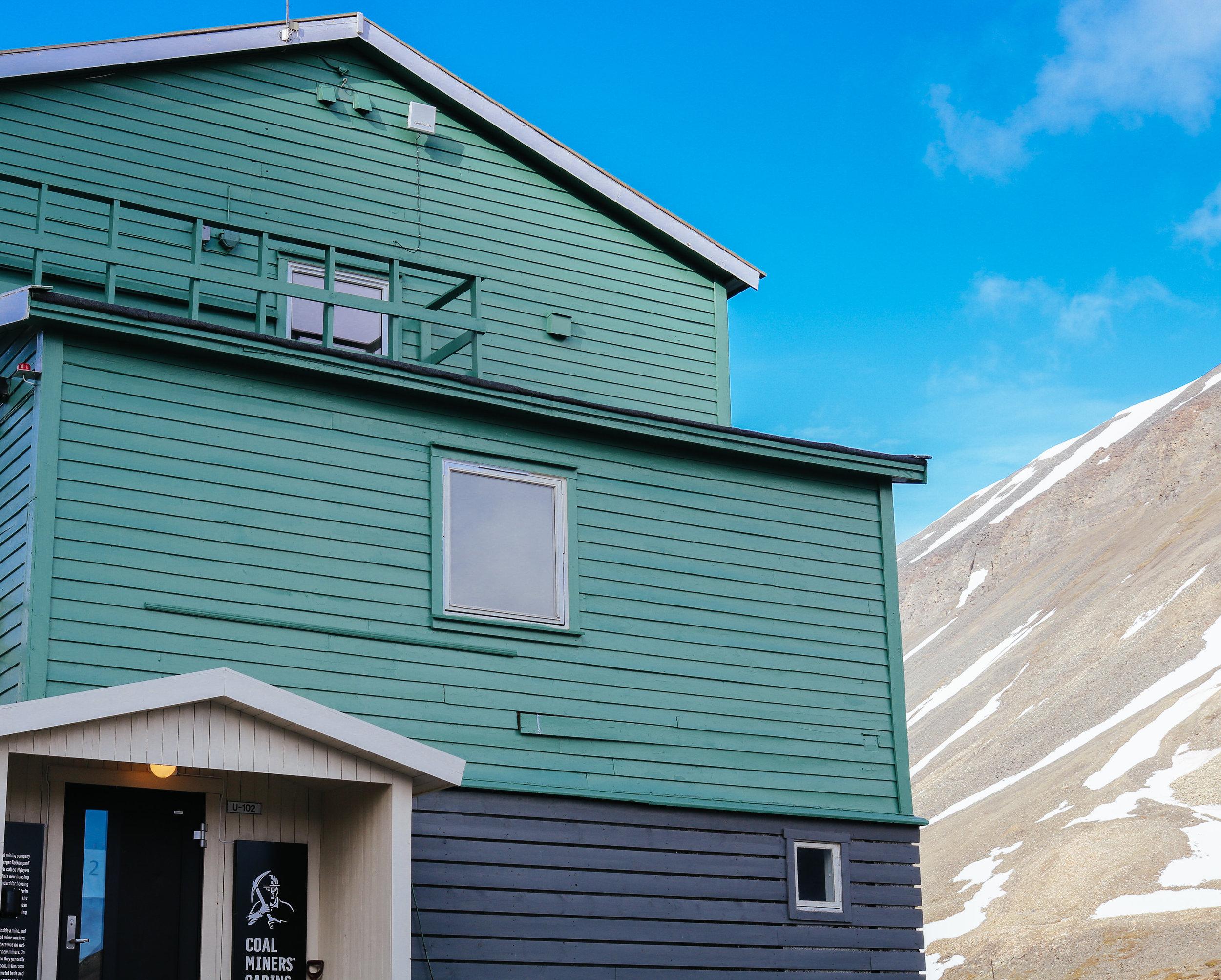 coal miners' cabins svalbard