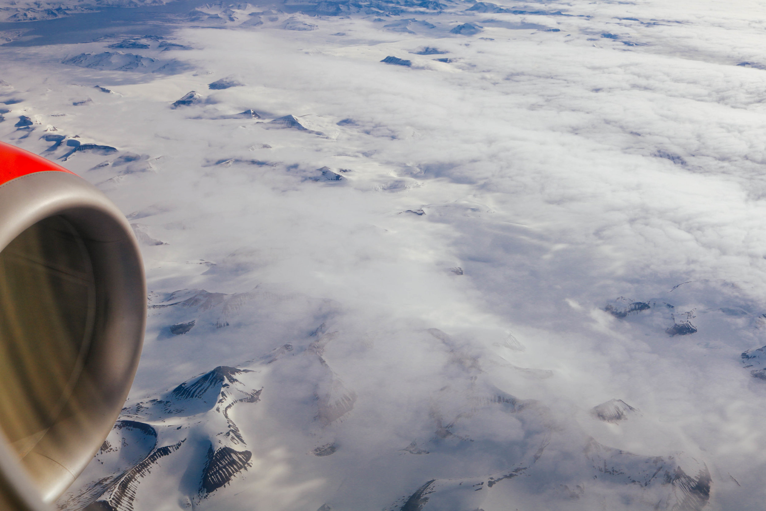 This might be your view flying over Northern Norway...