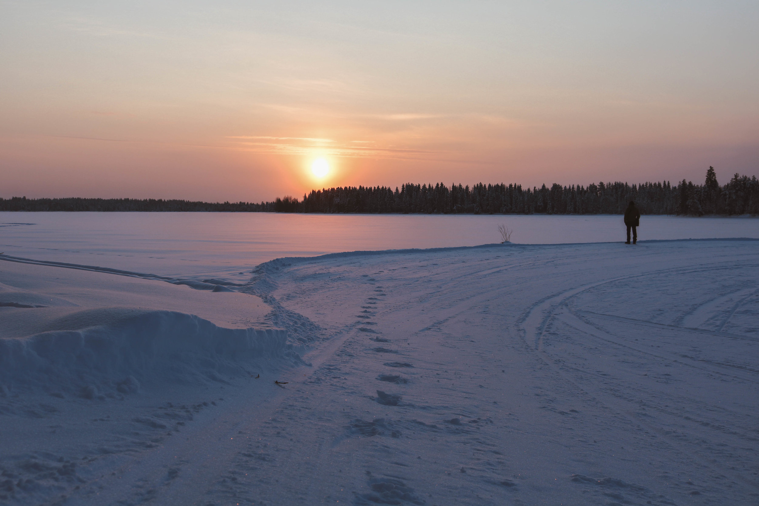 Winter light in North-Eastern Finland