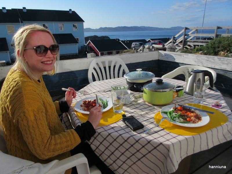 You might not recognise the blonde with the wind-swept hair but that's, in fact, me indulging my plate of whale stew in Nuuk in 2015. Picture taken by the lovely    Hanne   .