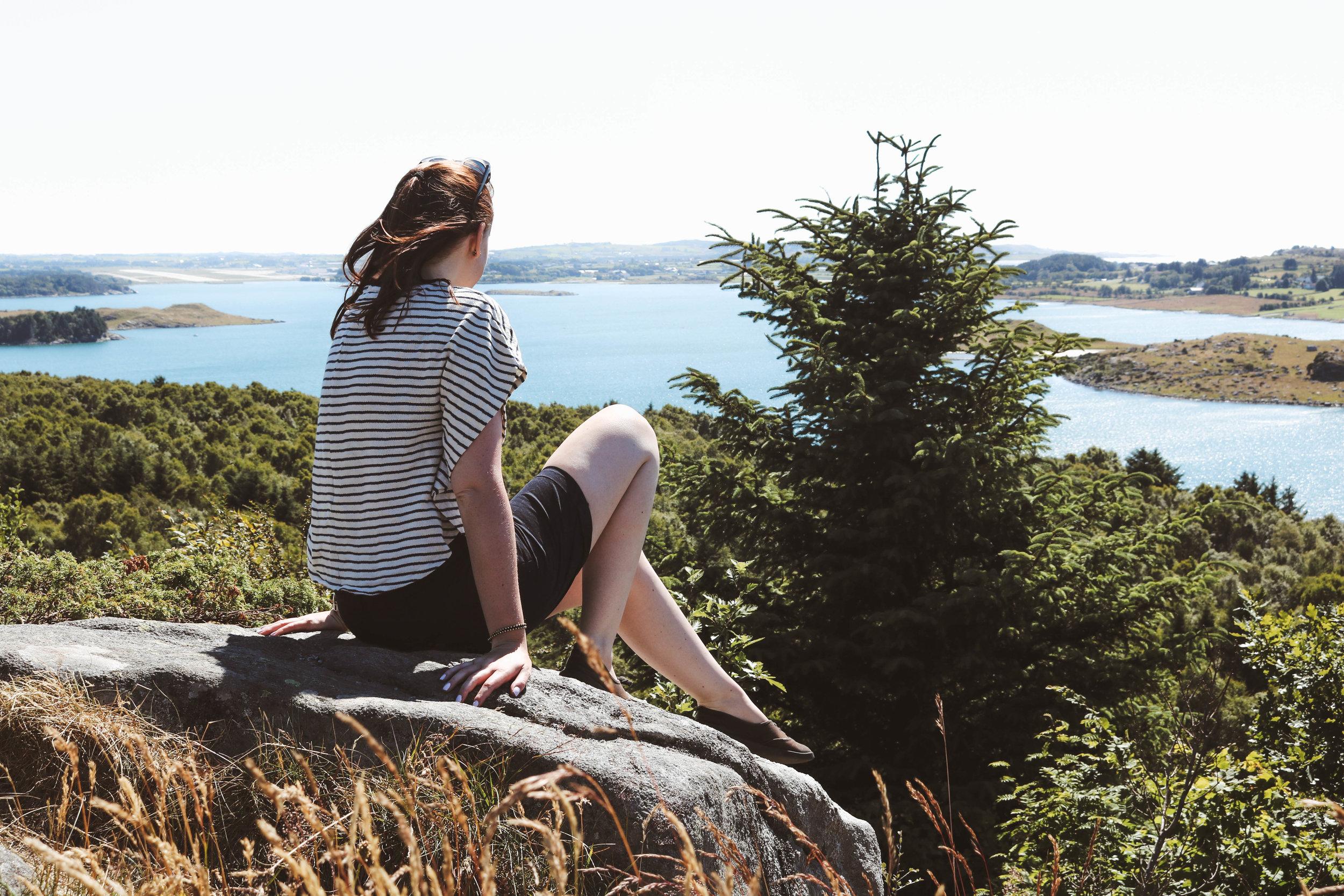 Overlooking Hafrsfjord in Stavanger