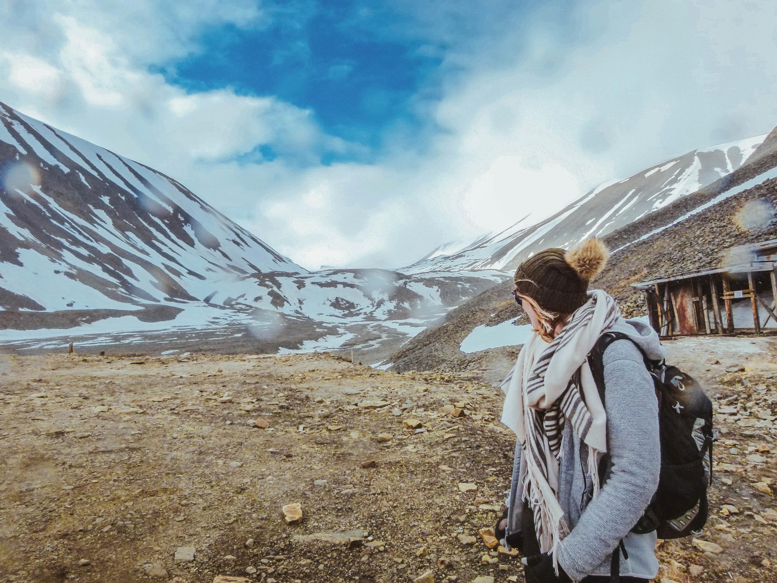Me and my fleece jacket, exploring Svalbard