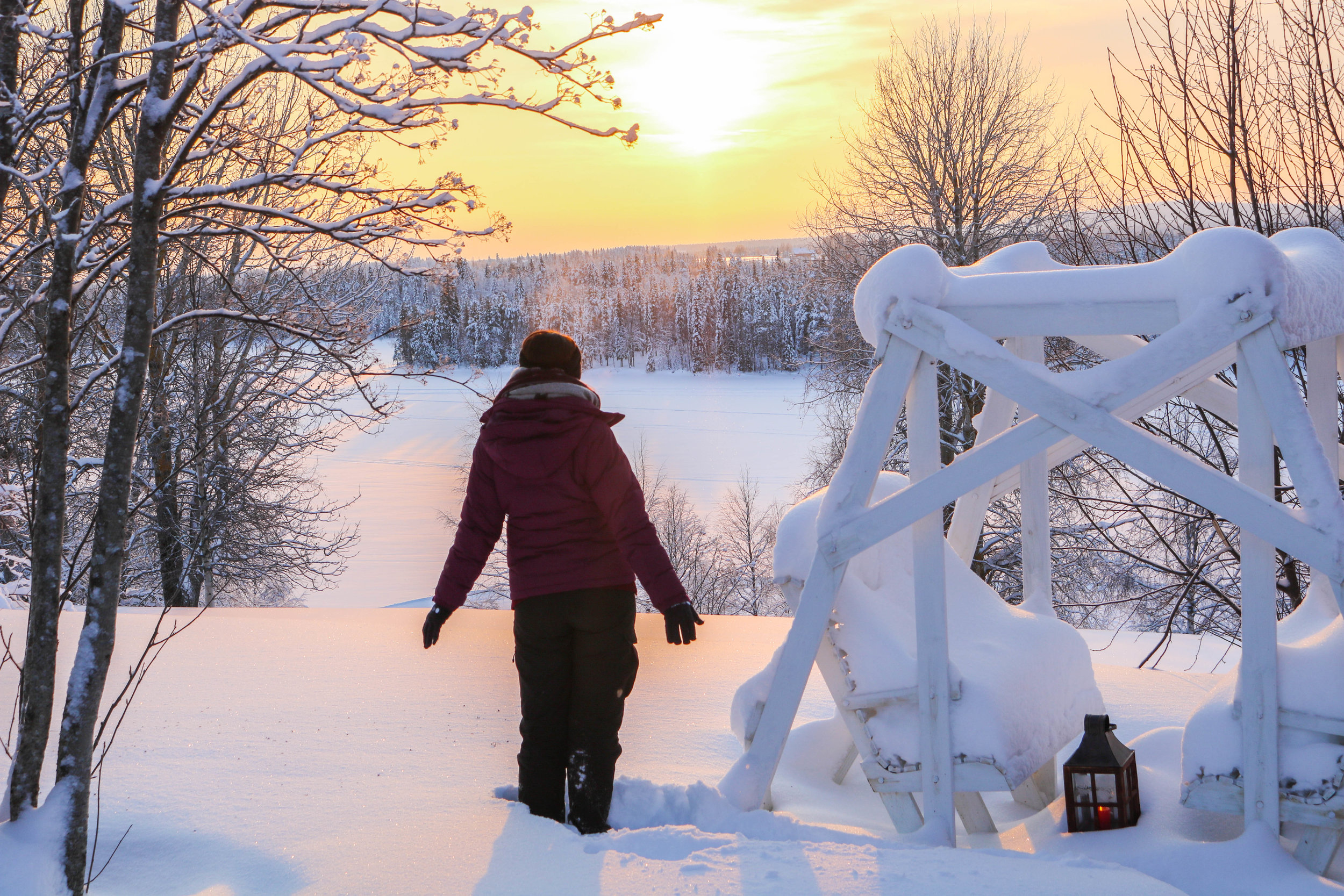 Granted, this was actually Lapland in -23 degrees - not something you'd usually encounter in Norwegian coastal cities, but definitely something you have to expect when heading inland/up the mountains!