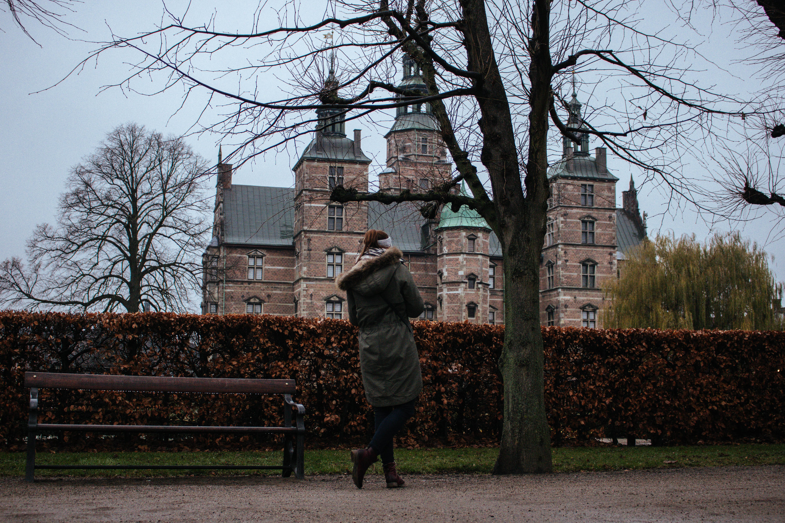 rosenborg castle on a rainy day