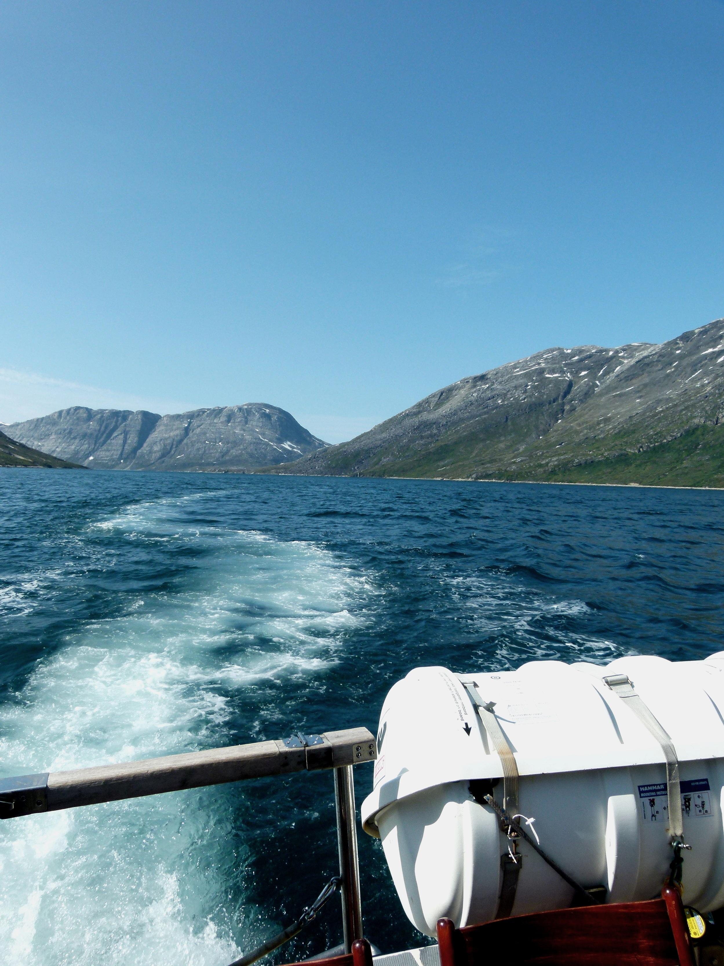 Cruising down Kobbefjord close to Nuuk, Greenland