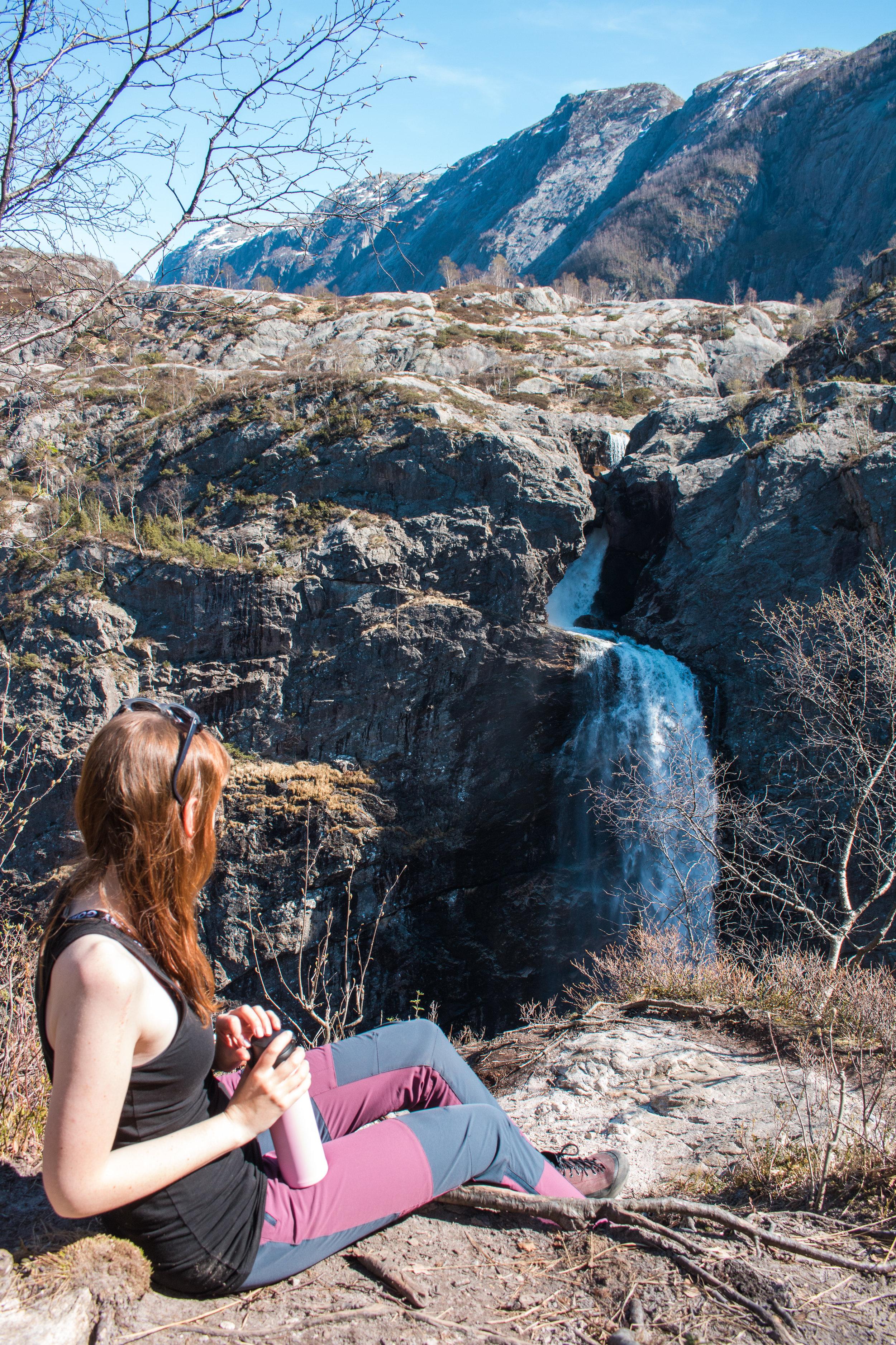 månafossen waterfall stavanger rogaland norway