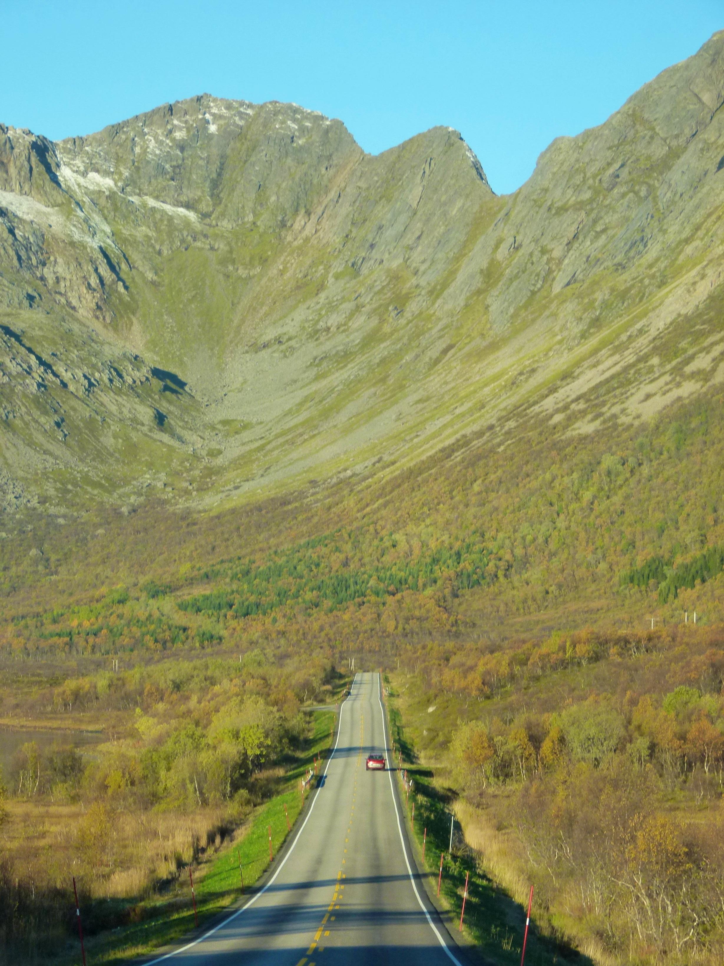 road trip in lofoten norway