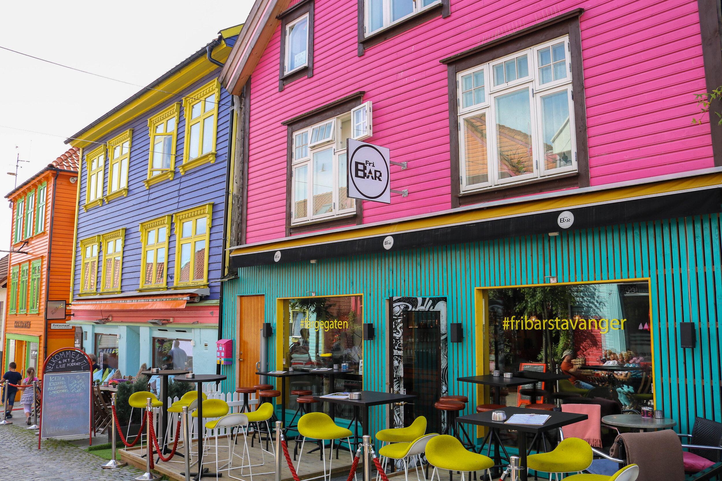 Colourful Street Stavanger