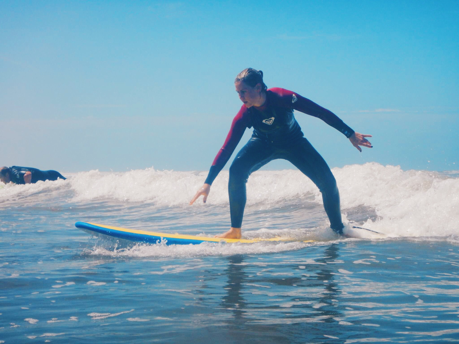 Learning to surf at Middleton Beach