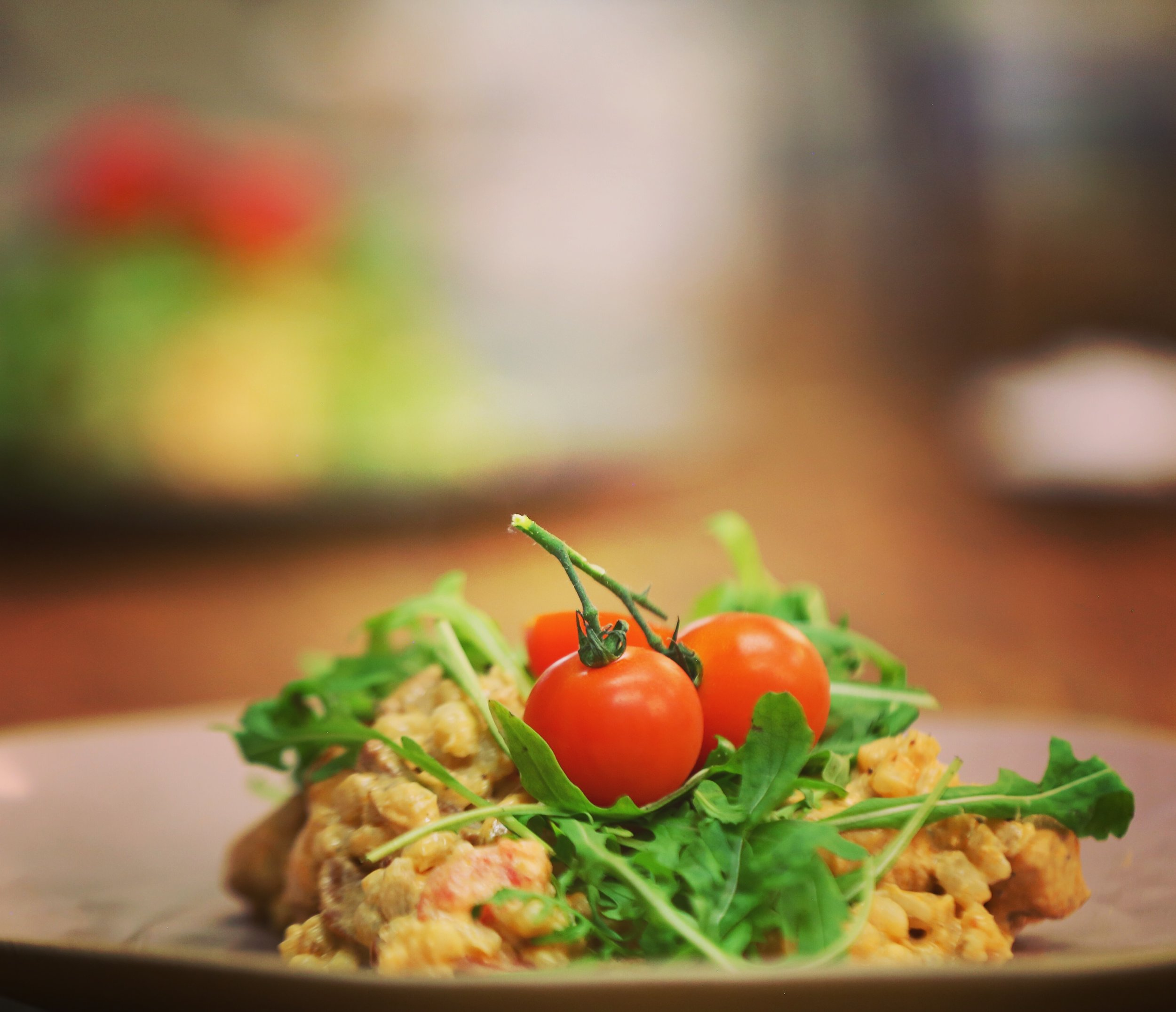 The finished product: Tom Mitchell's Pearl Barley, Chicken & Chorizo Risotto
