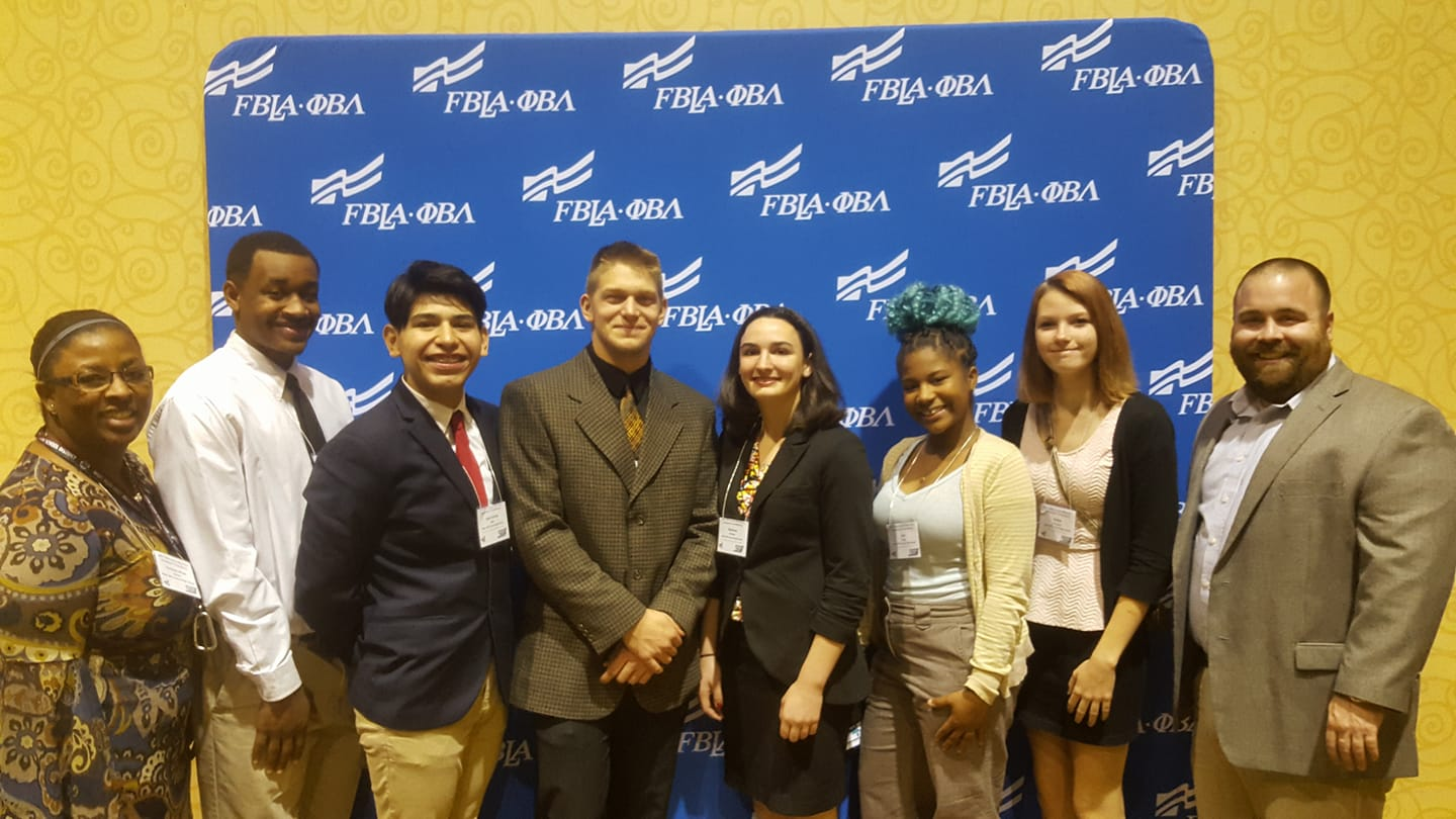 Board member John Werner at the Wisconsin Fall Leadership Conference connecting with the West Allis Chapter which received grants from the Wisconsin FBLA-PBL foundation, Inc.