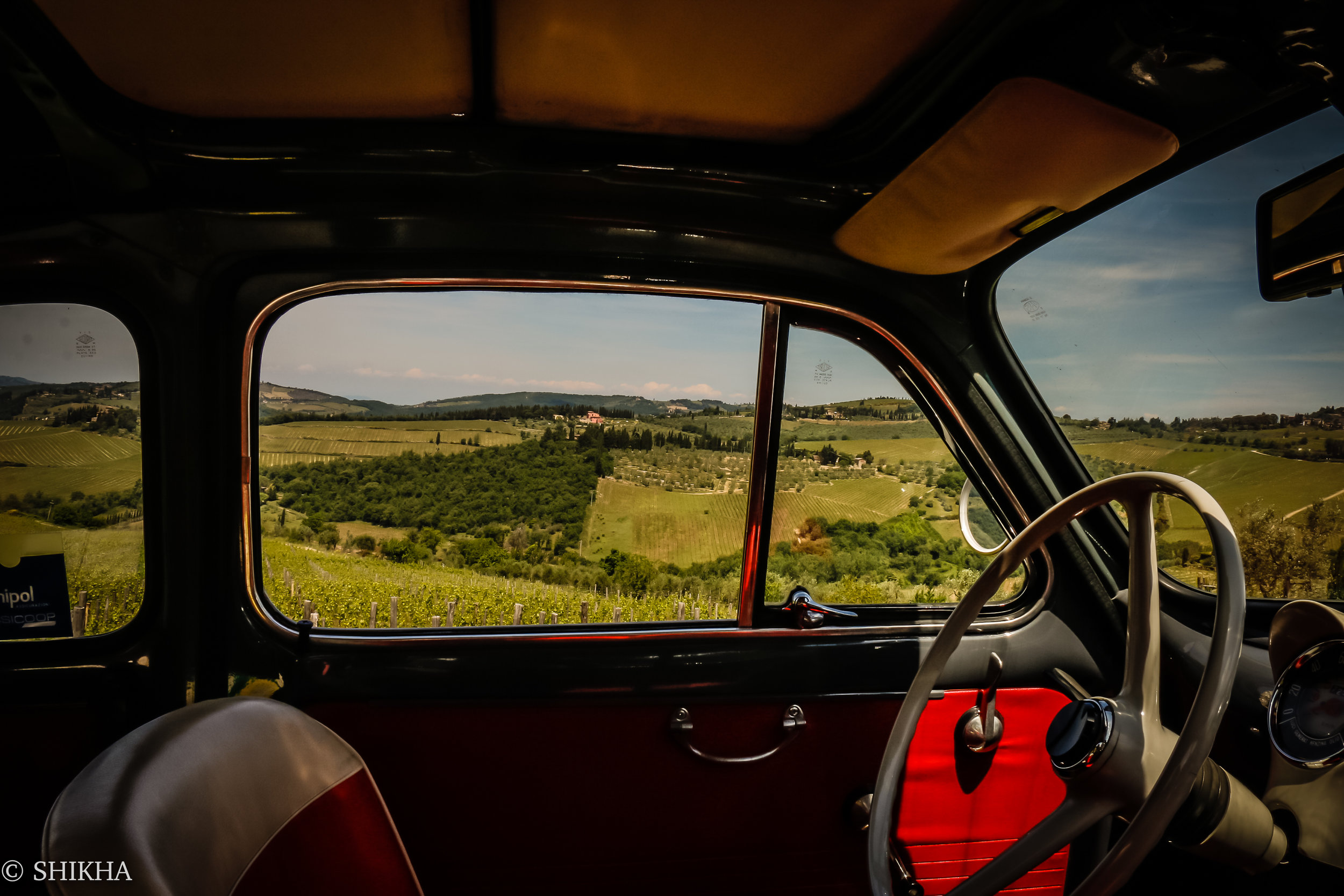 Driving under the tuscan sun