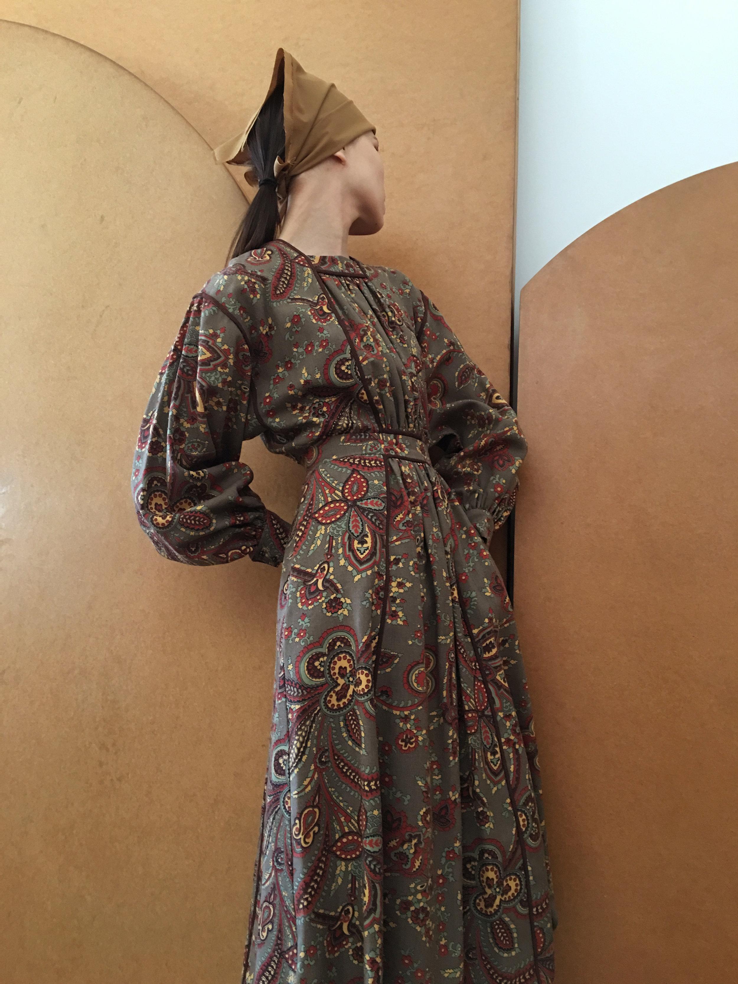 Wool Challis Poet dress