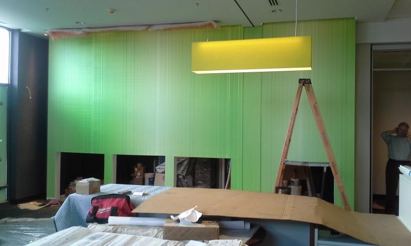TD Bank - Custom Green Stripe Wallpaper