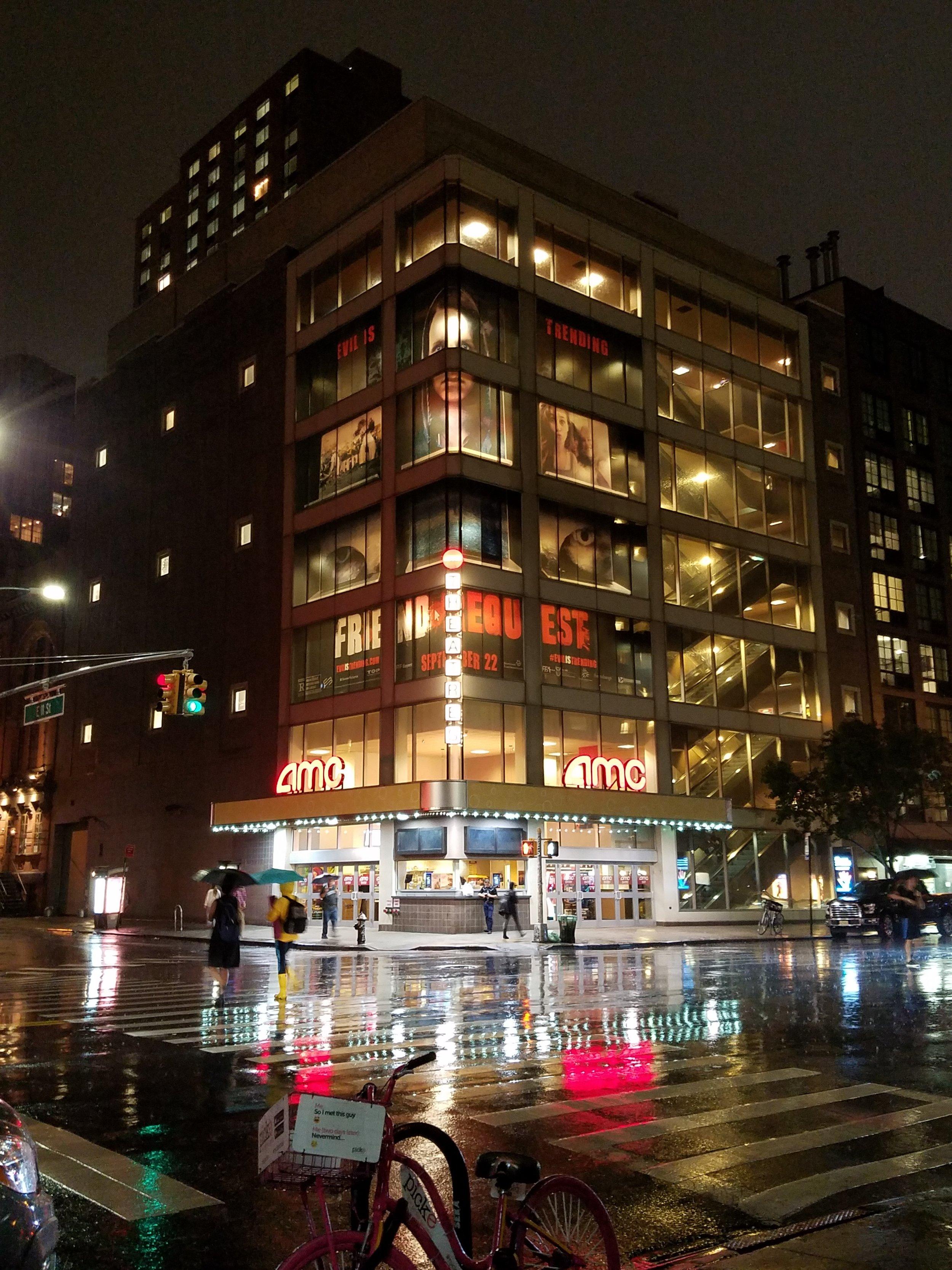 Our signature backlit building wrap