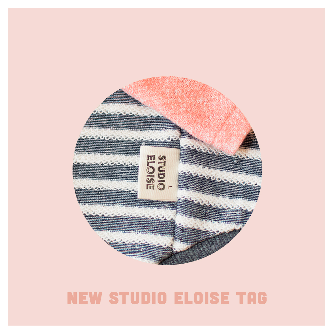 - Now Studio Eloise tags have size written on the front side!