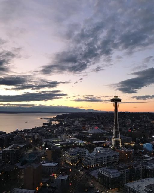 """ I was so pumped to attend a book launch for my client-turned-friend last night in Seattle. This view fits the mood of the evening: ""Your attitude determines your altitude"" - a quote right out of her book."" - Caption and photo by Jinger Hendricks"